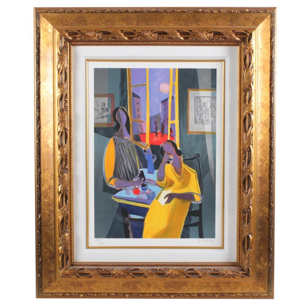 """Marcel Mouly Color Lithograph """"Crejuscule de Soir"""""""