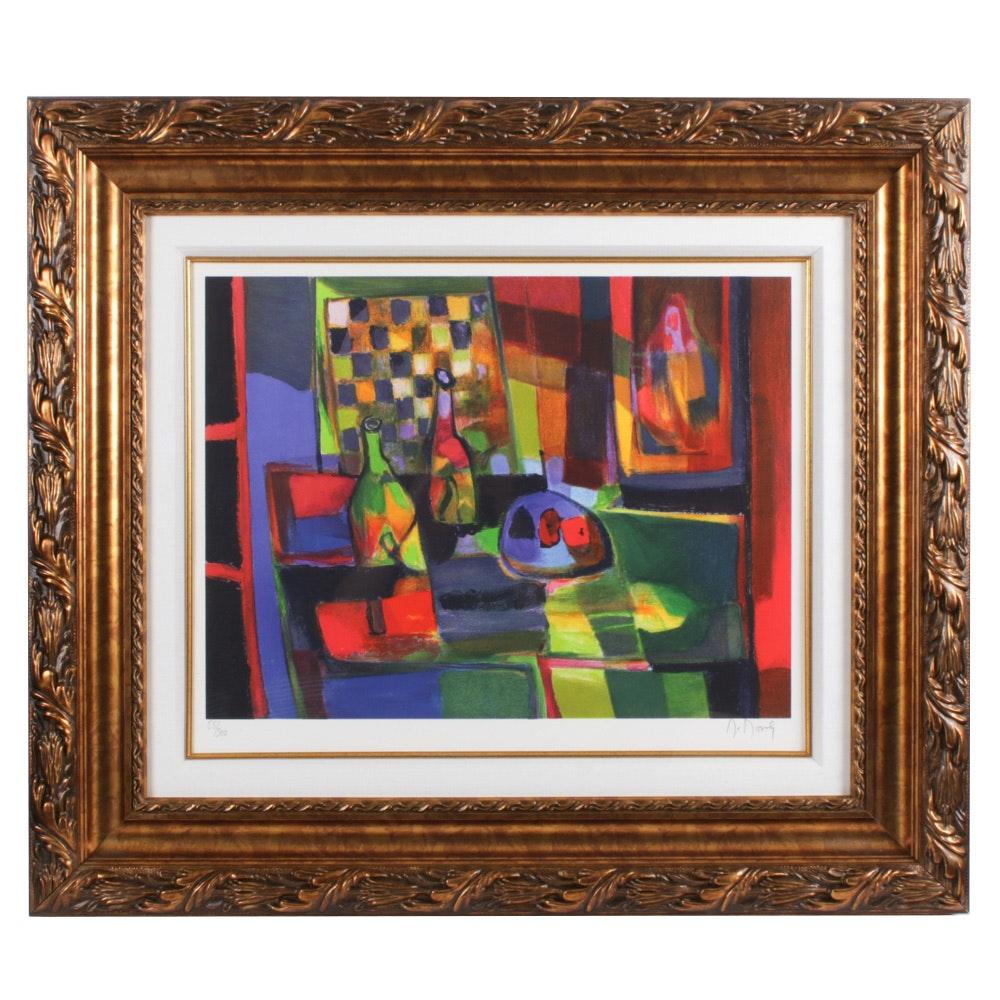 """Marcel Mouly Color Lithograph """"Nature Morte au Grand Echiquie"""""""