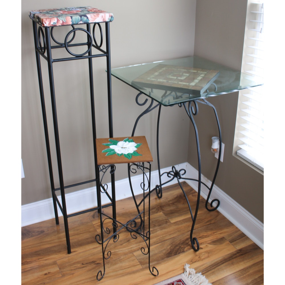 Metal Accent Tables and Plant Stands