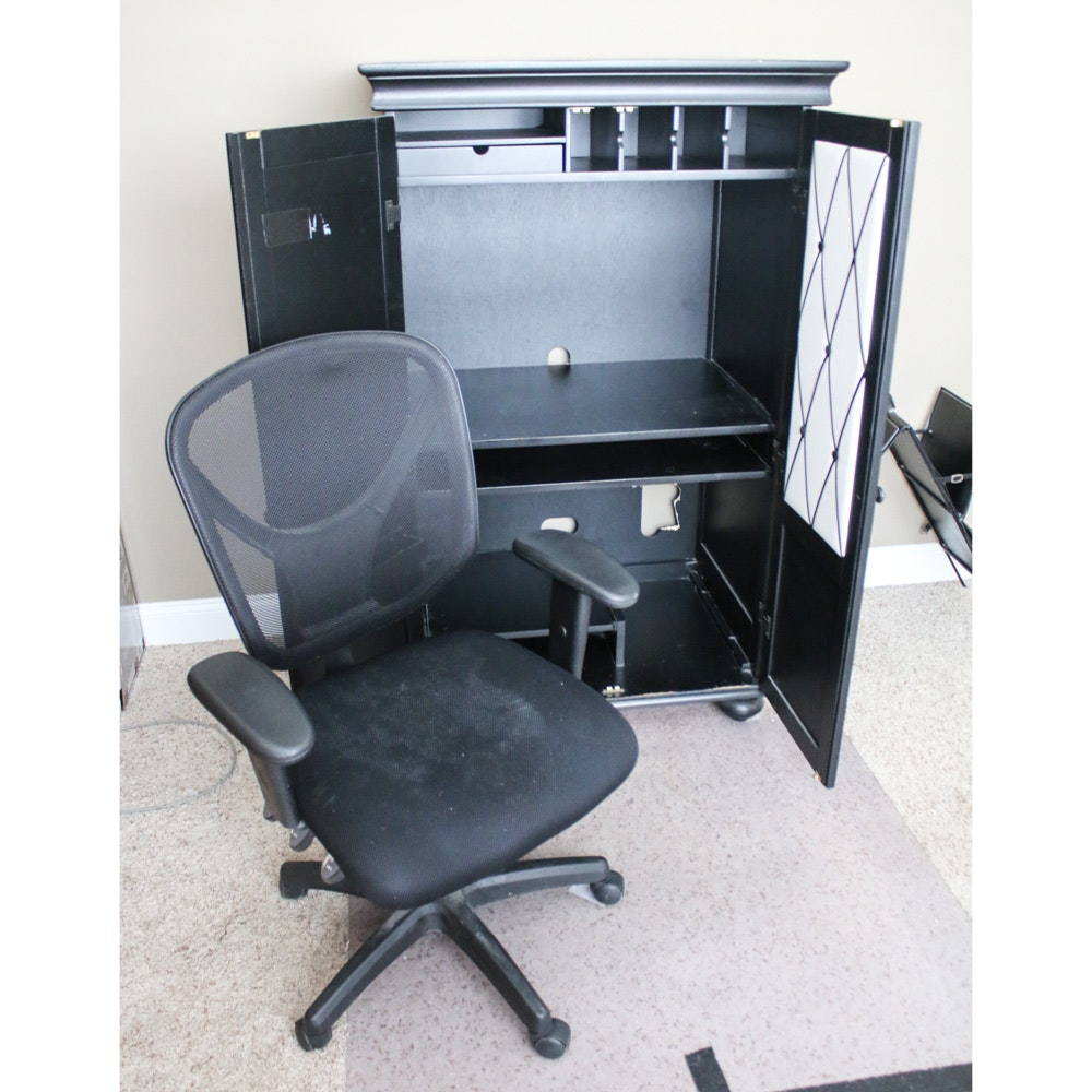 Contemporary Cabinet Desk and Office Chair