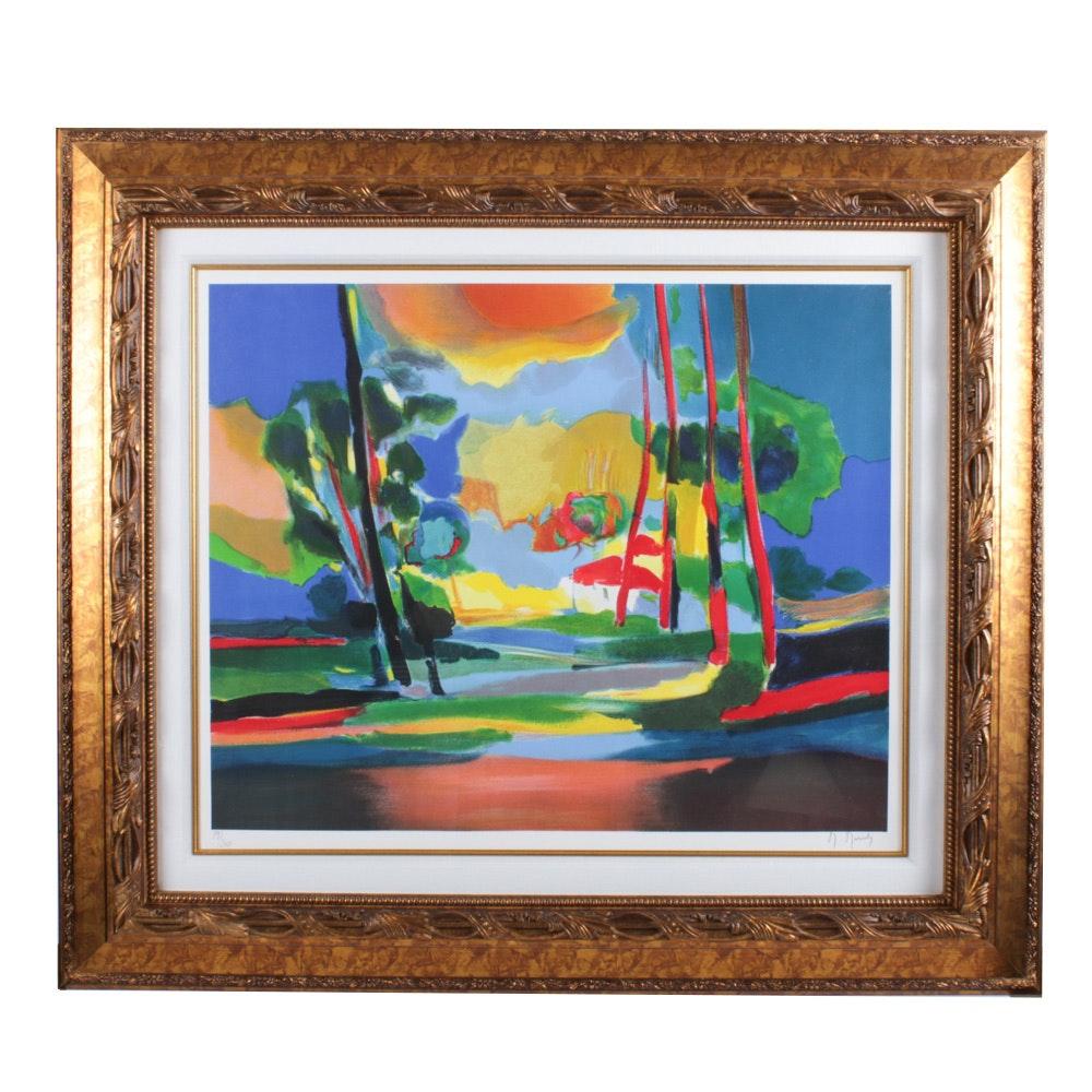 """Marcel Mouly Color Lithograph """"La Clairiere"""""""