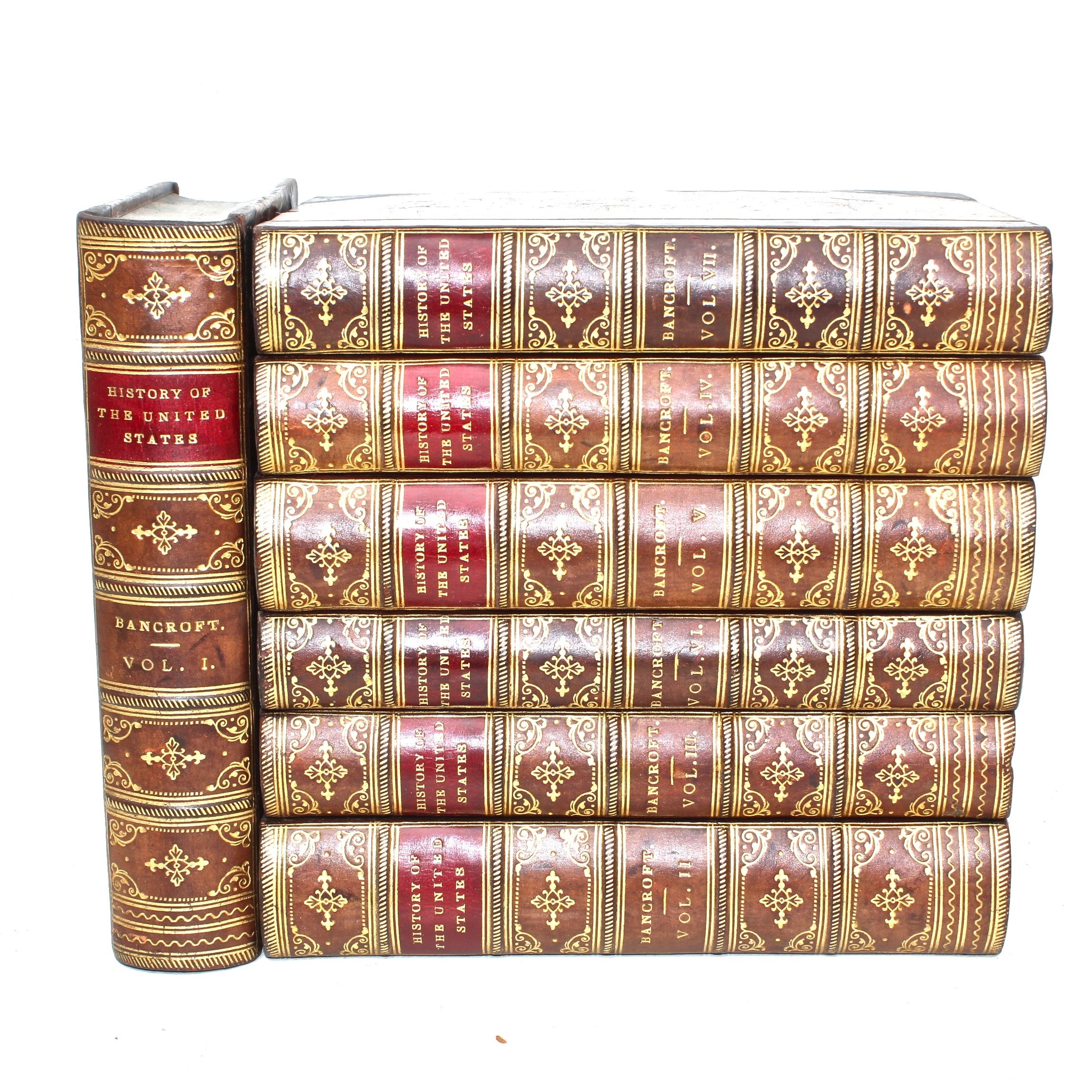 """""""History of the United States"""" 7 Volume Set by George Bancroft"""