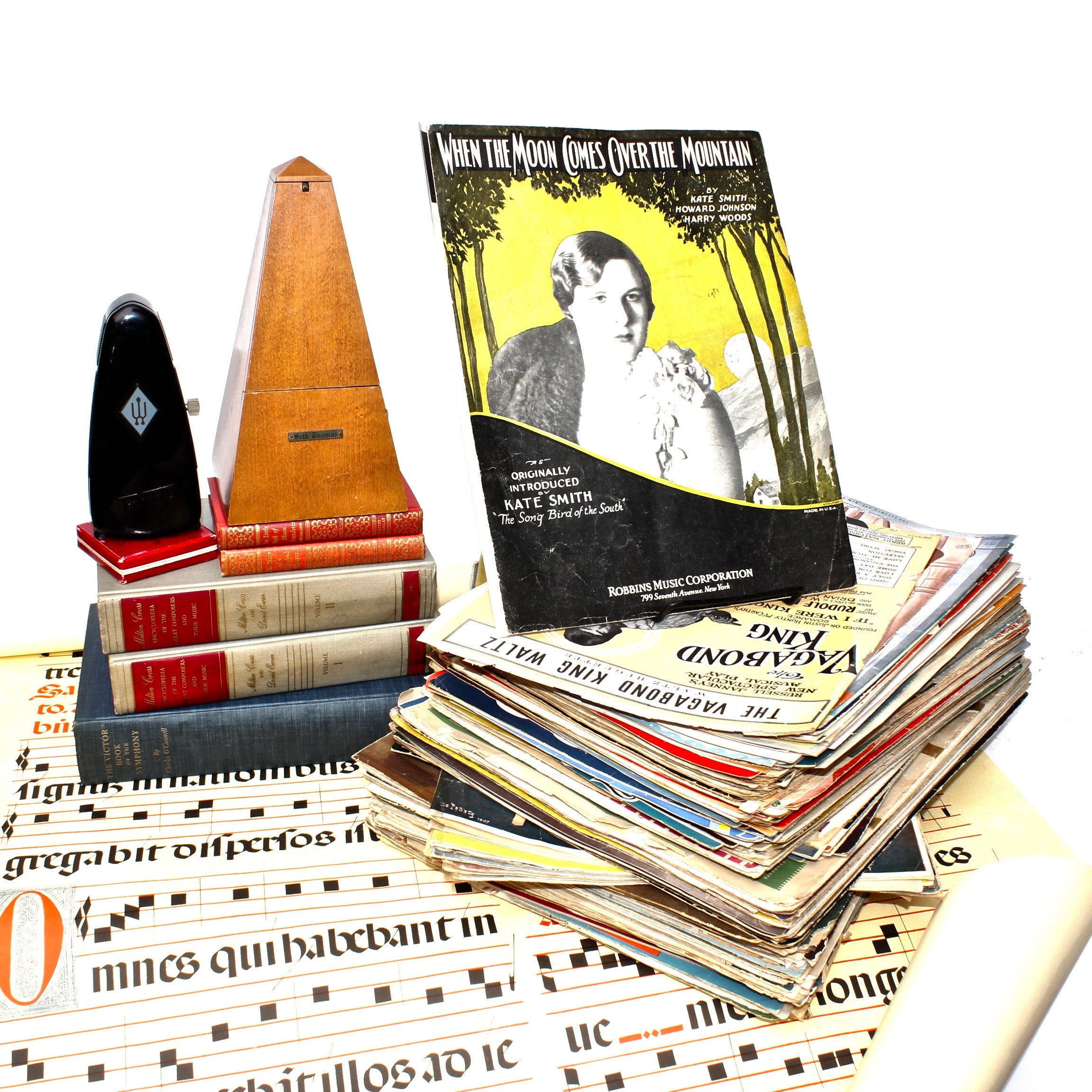 Vintage and Antique Sheet Music and Books on Symphony and Composers