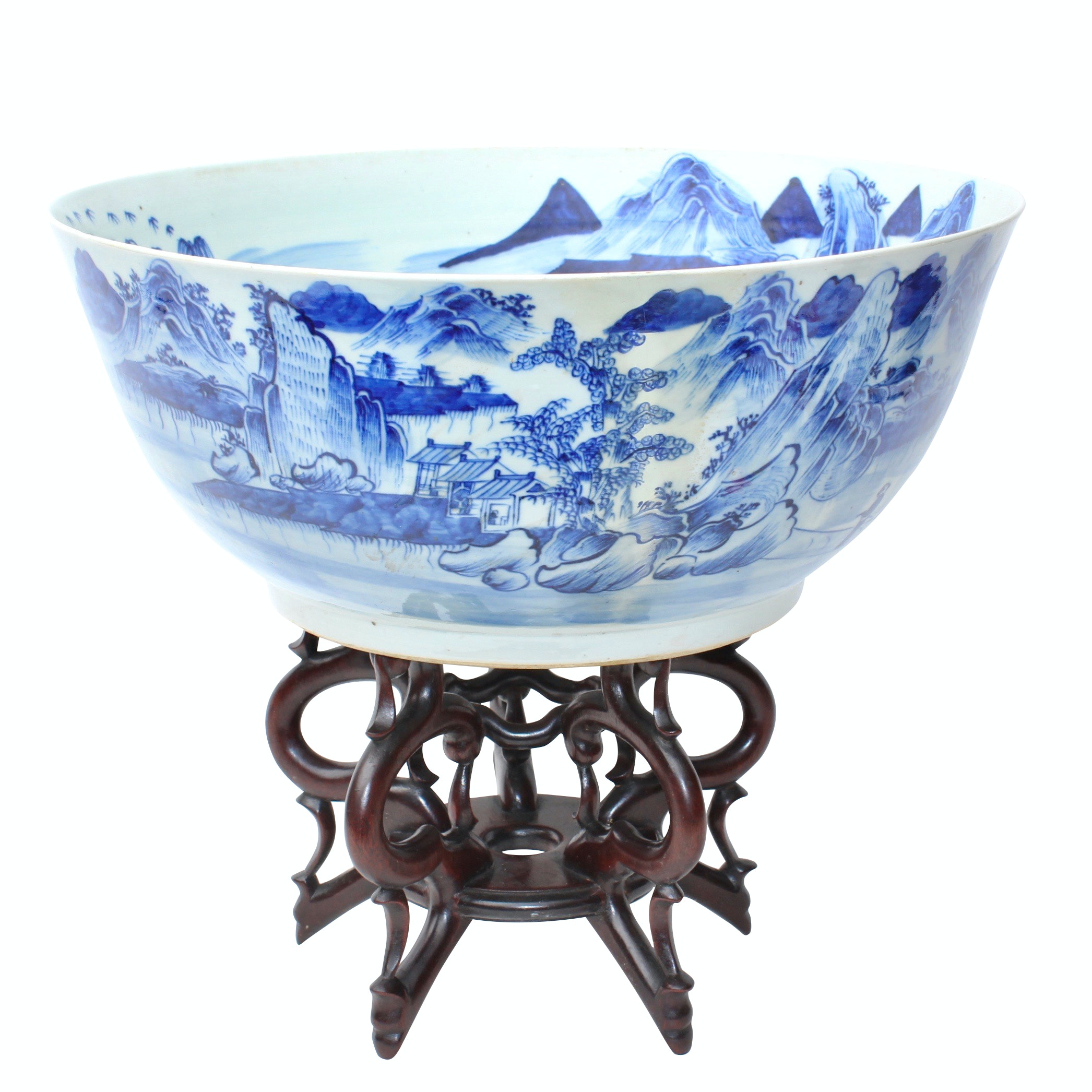Chinese Blue and White Porcelain Bowl, Qing Dynasty