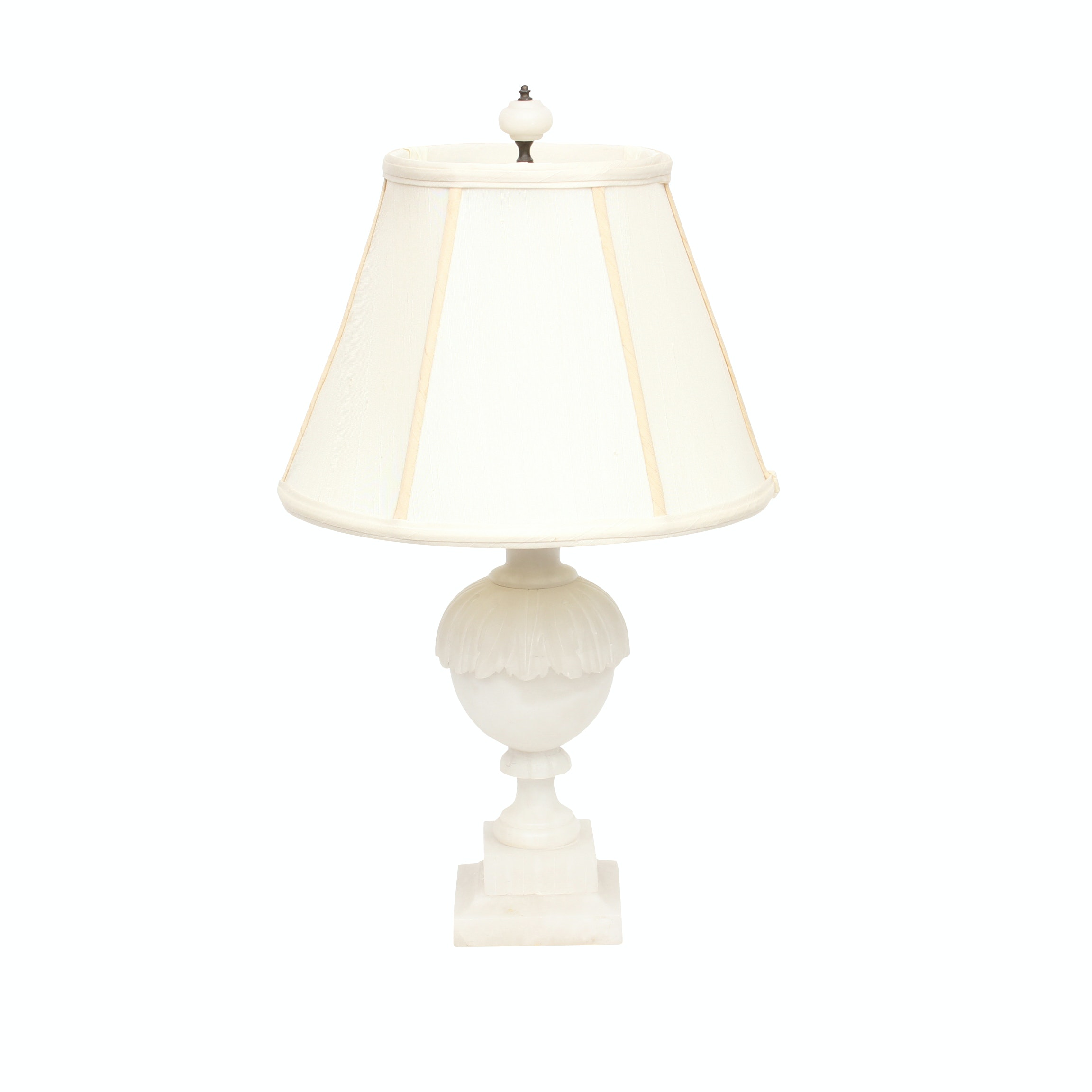 Carved Marble Table Lamp, Early to Mid 20th Century