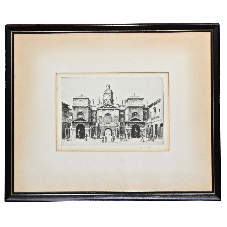 James Grant Engraving of European Scene