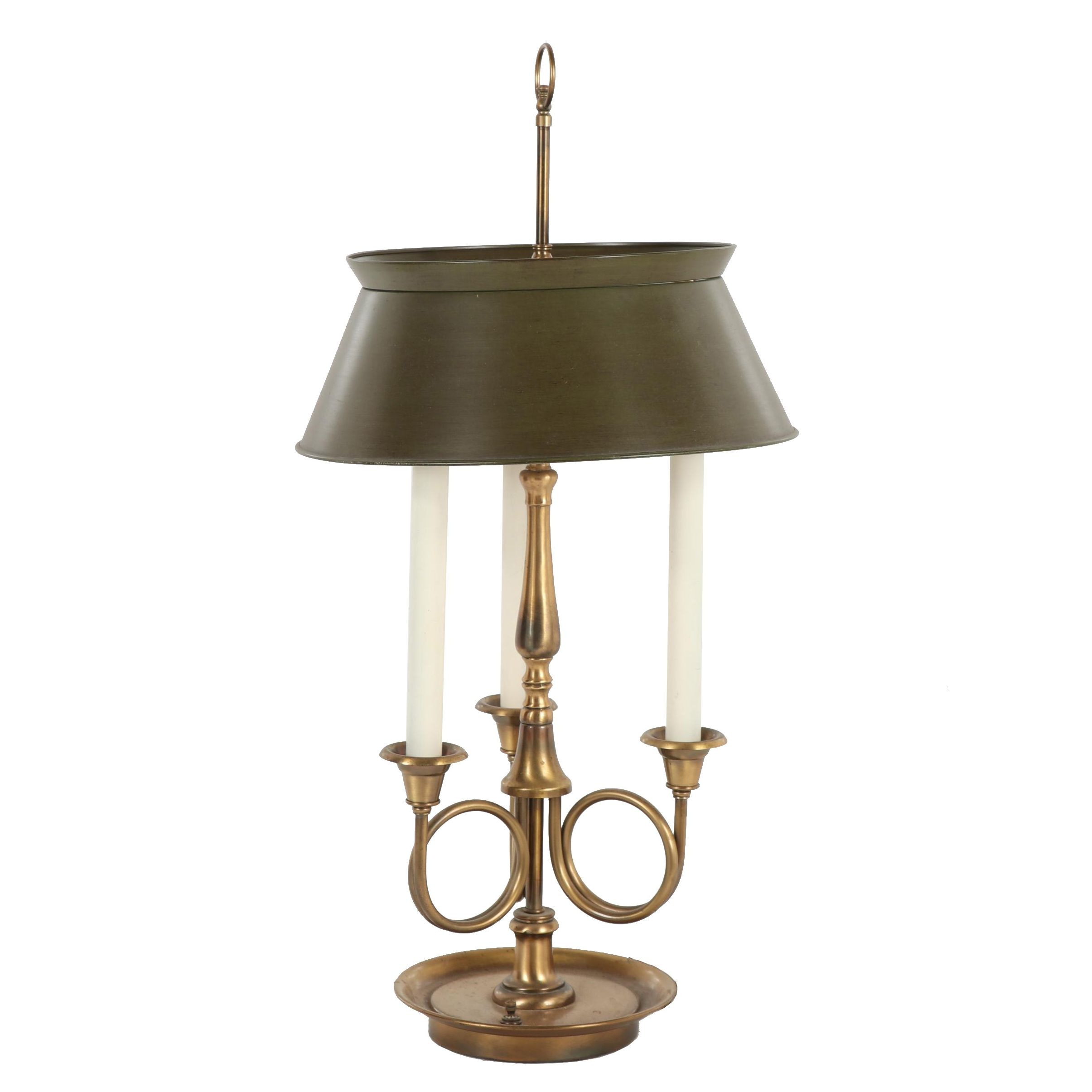Bouillotte Style Table Lamp with Metal Shade, Attributed to Frederick Cooper