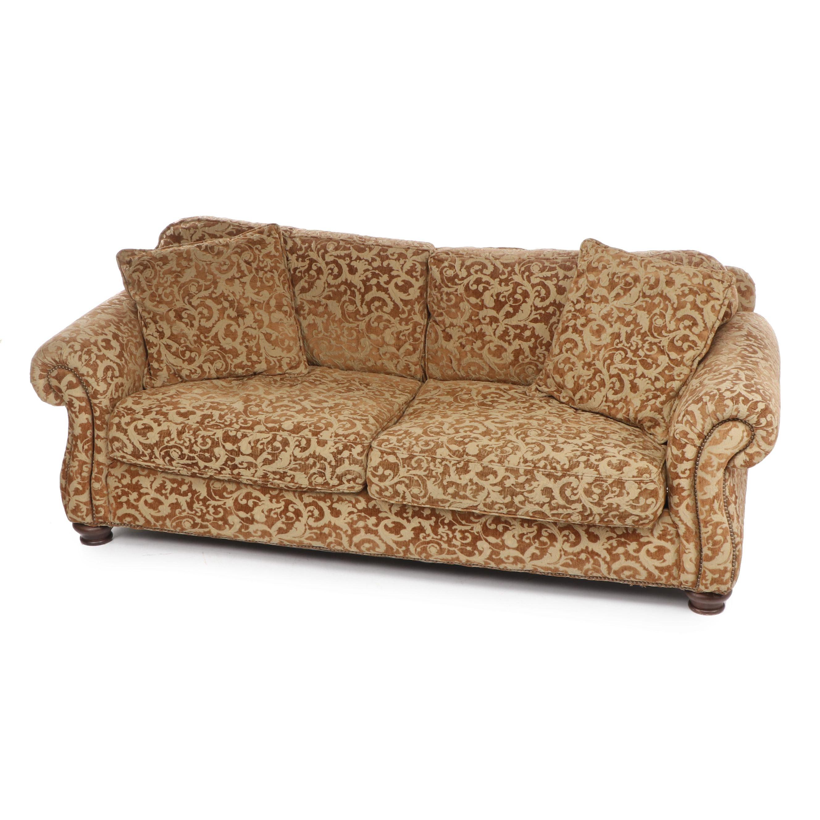 """Bernhardt """"New Vintages"""" Damask Upholstered Sofa"""