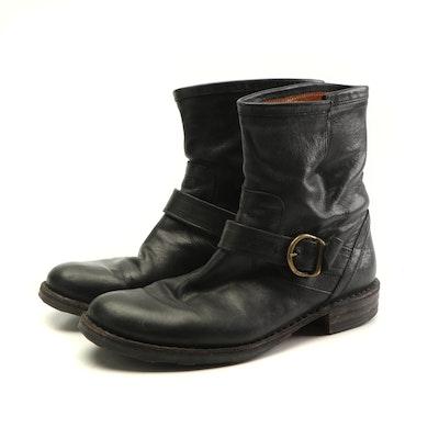 Fiorentini + Baker Eli Black Leather Biker Ankle Boots