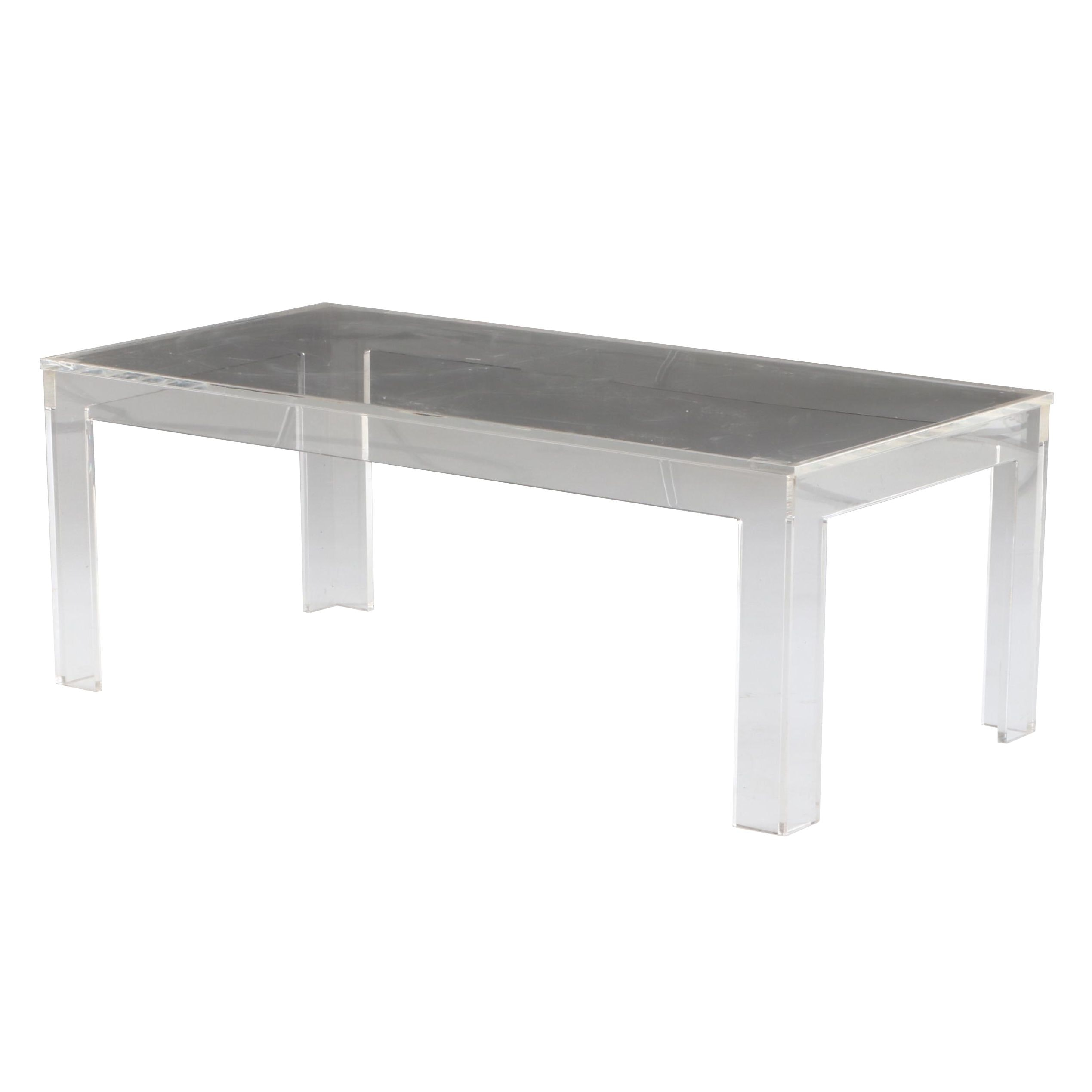 Contemporary Clear Acrylic Coffee Table
