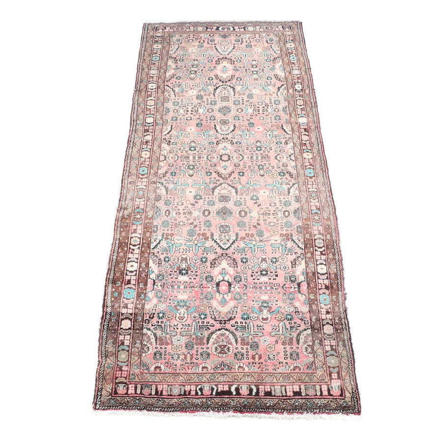Hand-Knotted Persian Hamadan Wool Rug