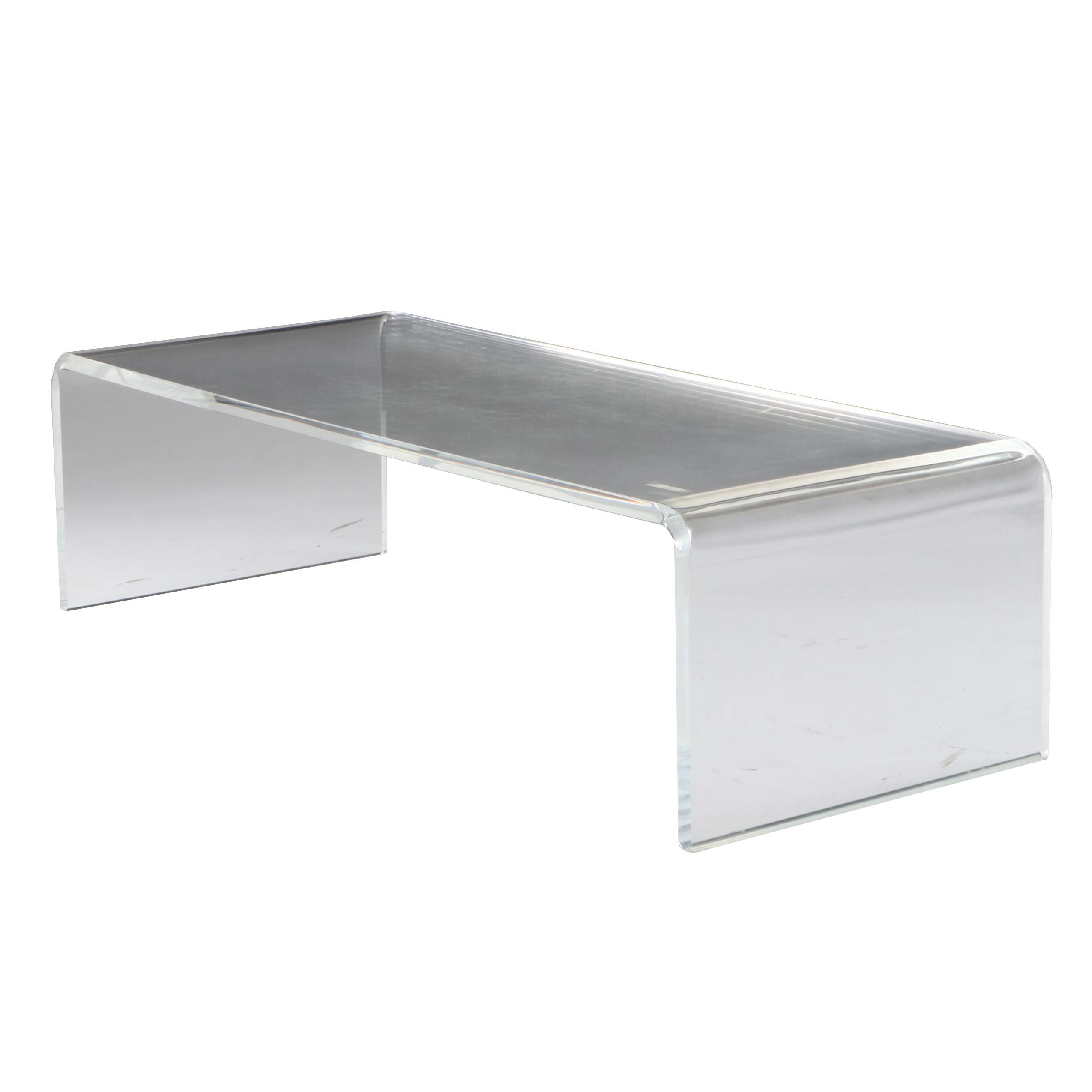 Modernist Clear Acrylic Coffee Table, Late 20th Century