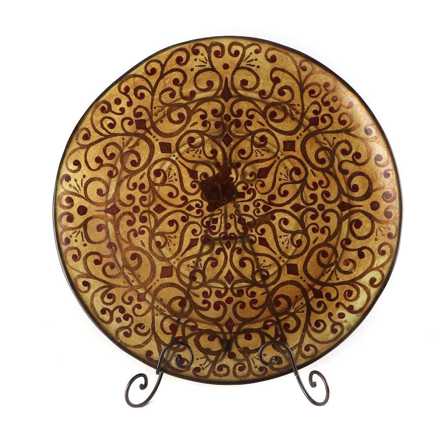 Contemporary Decorative Platter On Stand Ebth
