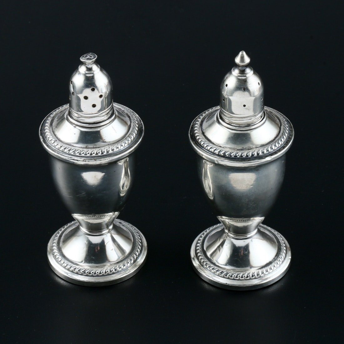 Weighted Sterling Silver Salt and Pepper Shakers