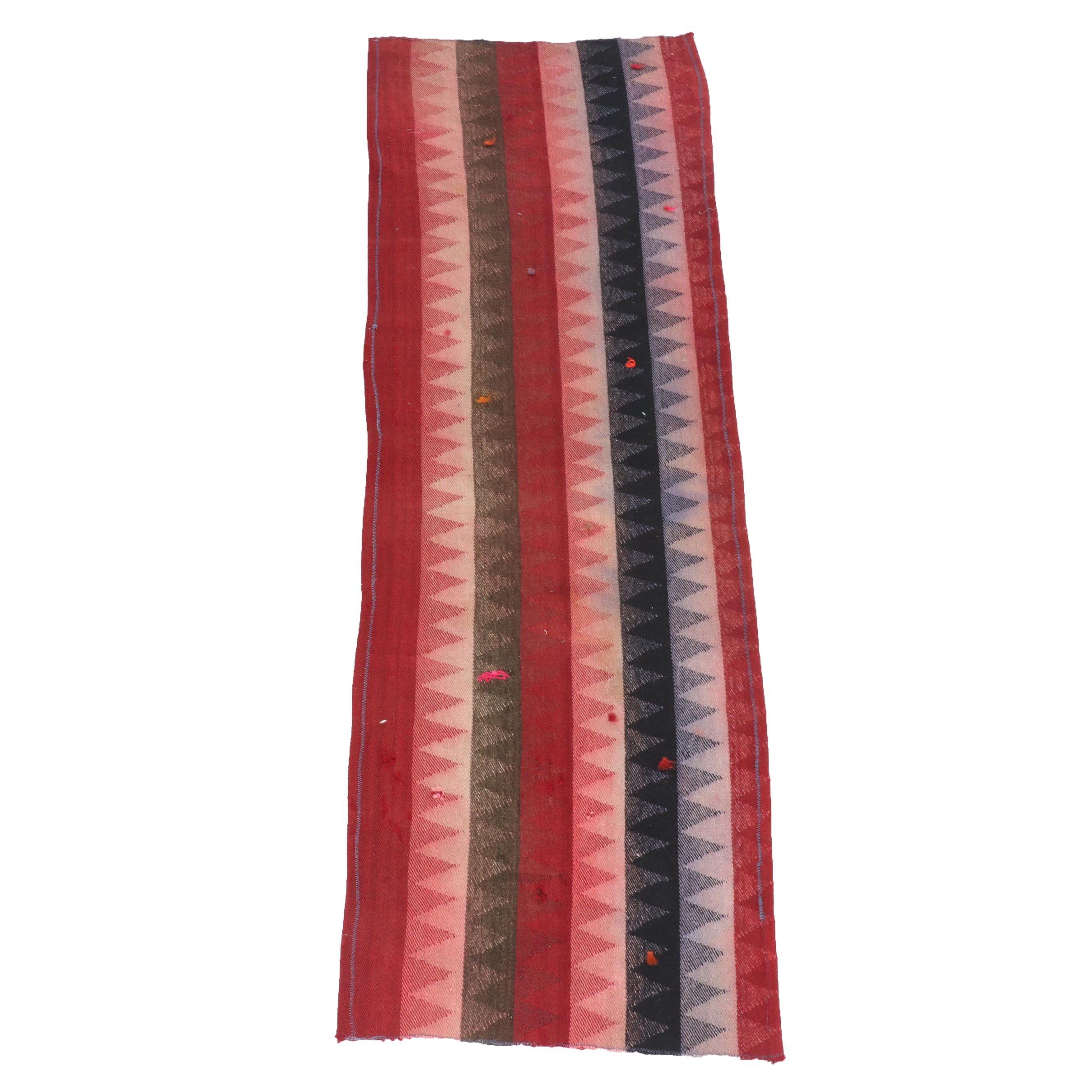 Handwoven Persian Kilim Wool Carpet Runner