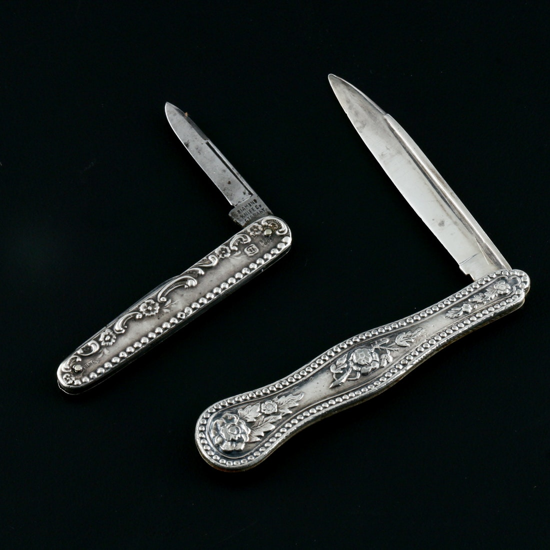 Sterling Silver and Steel Antique Fruit Knives