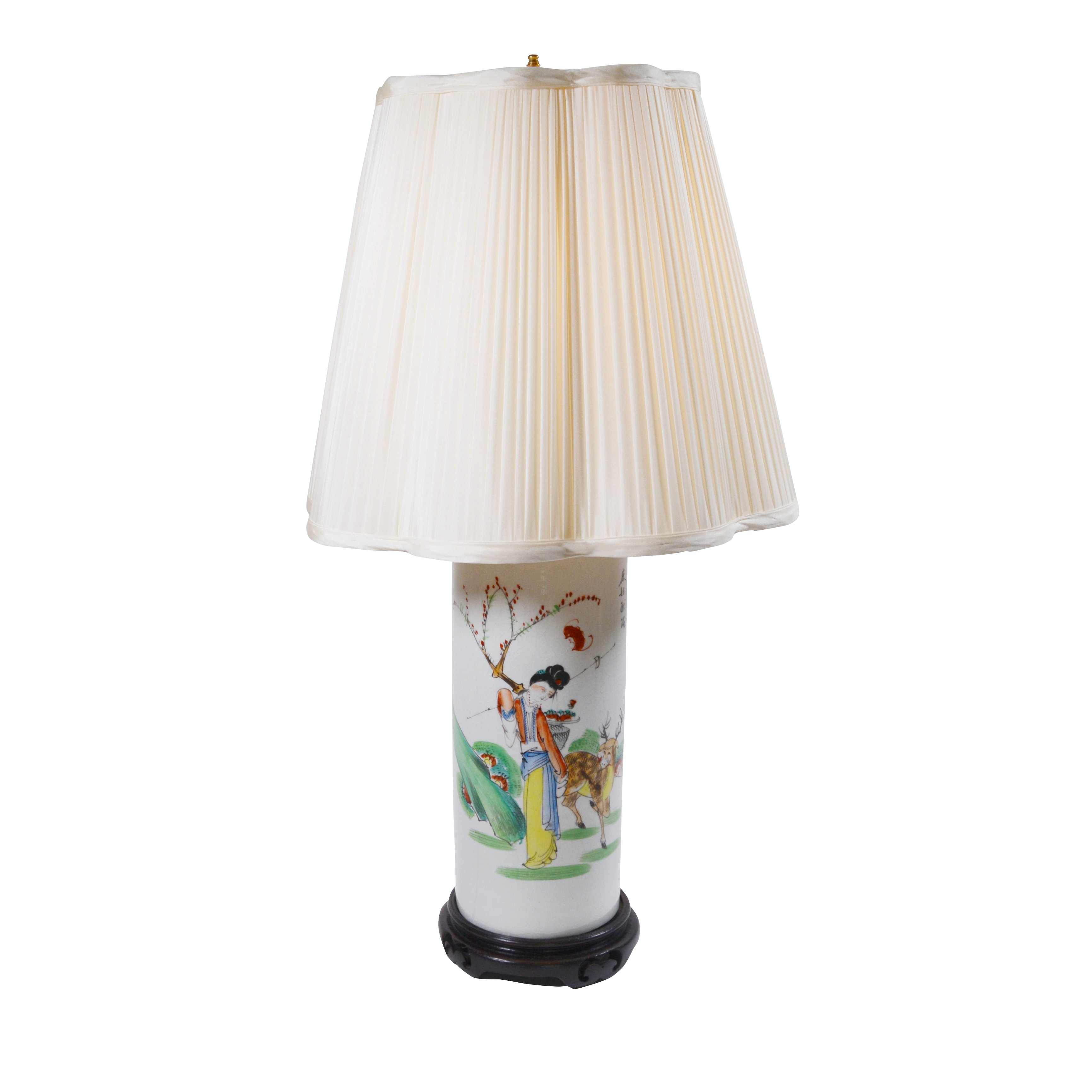 Chinese Painted Porcelain Table Lamp