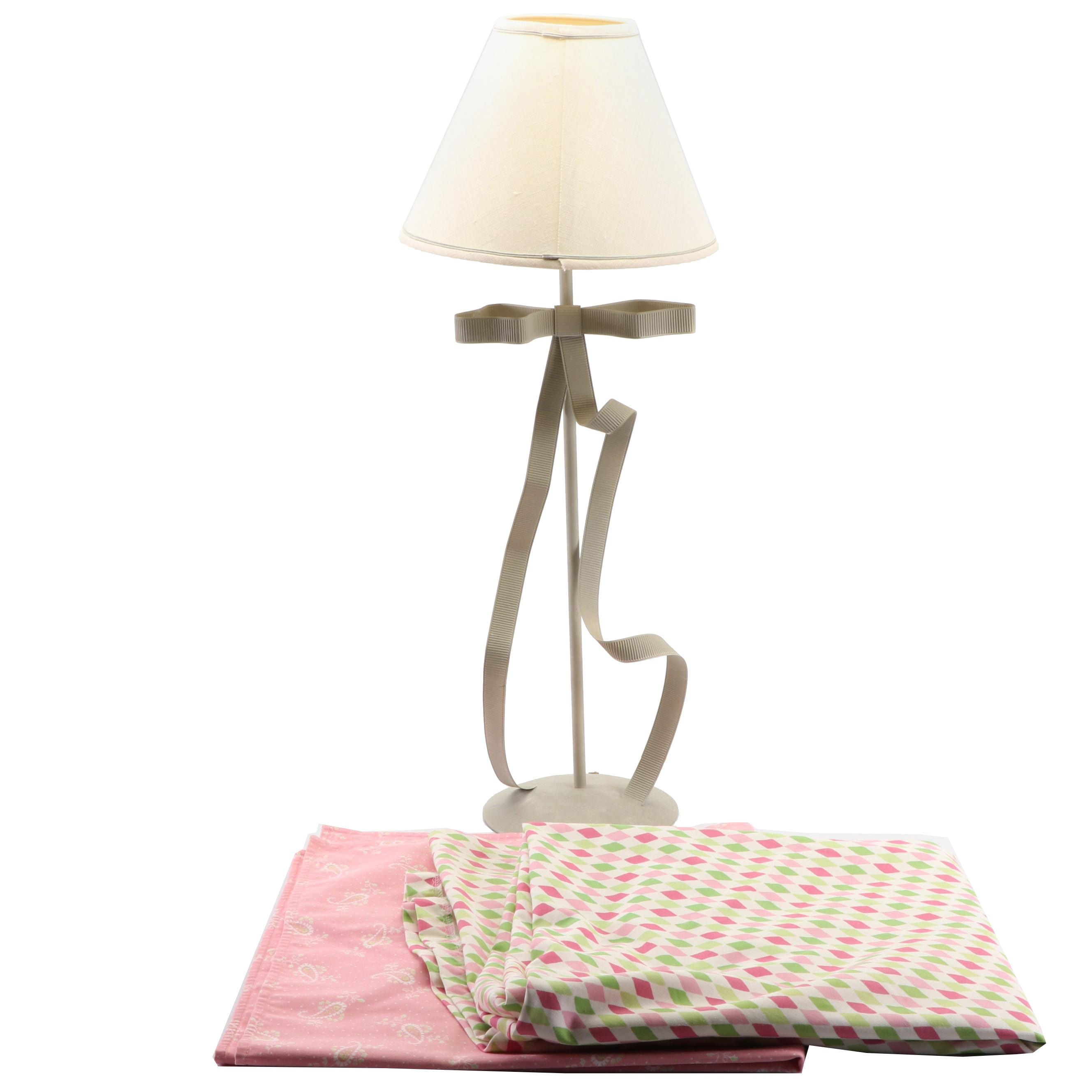 Guild Master Ribbon Table Lamp and Table Cloths