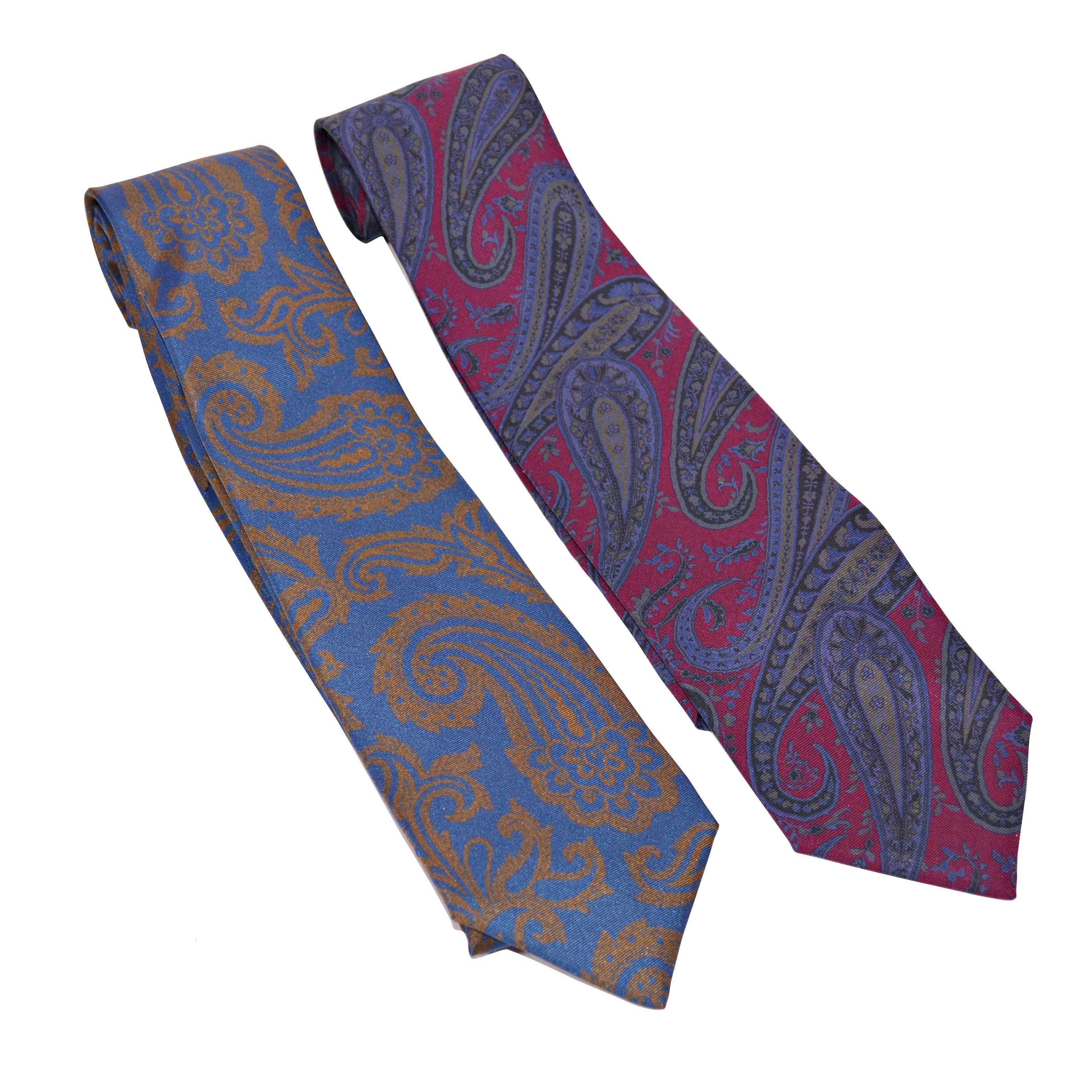 Men's Alan New York Paisley Silk Neckties