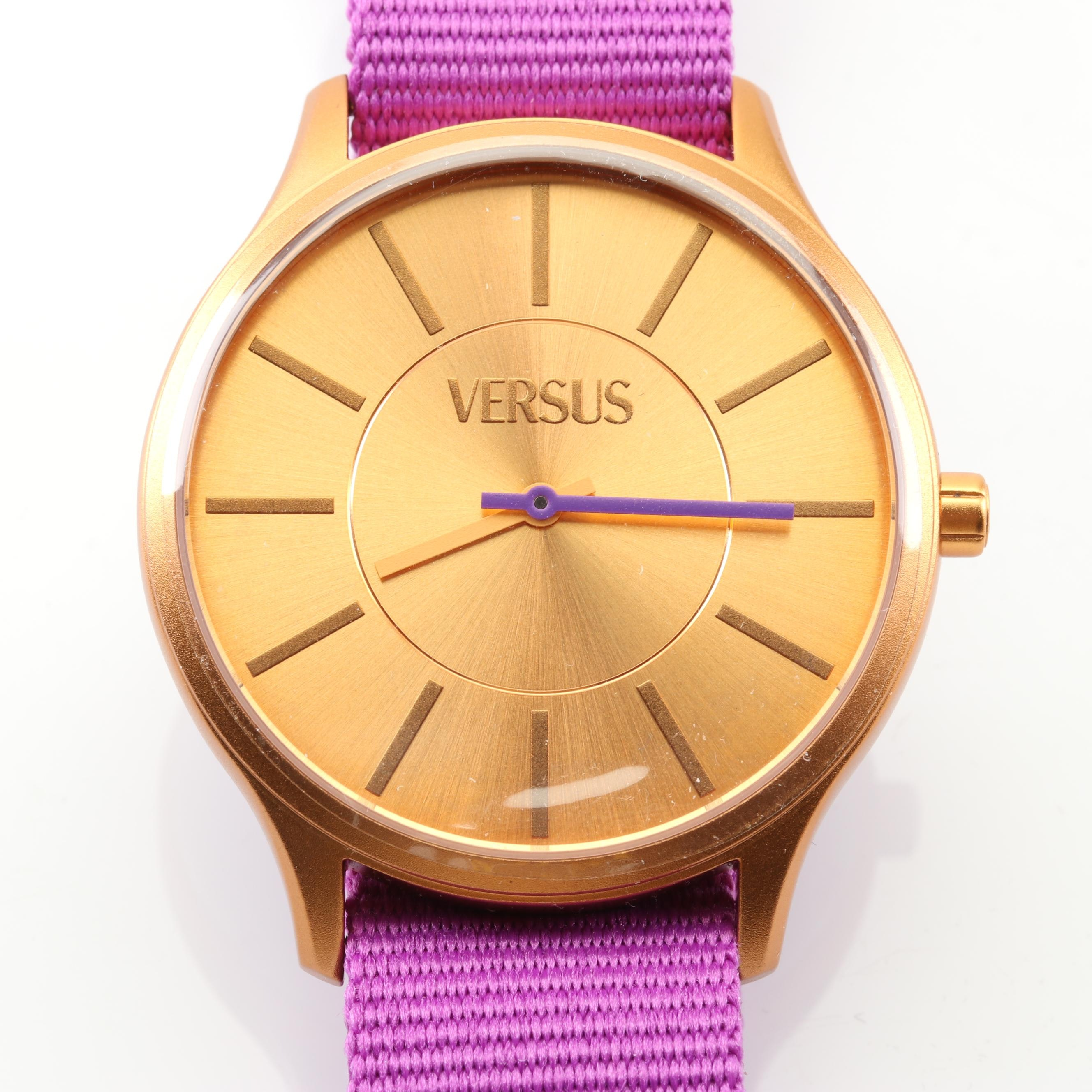 Versus by Versace Gold Tone Wristwatch