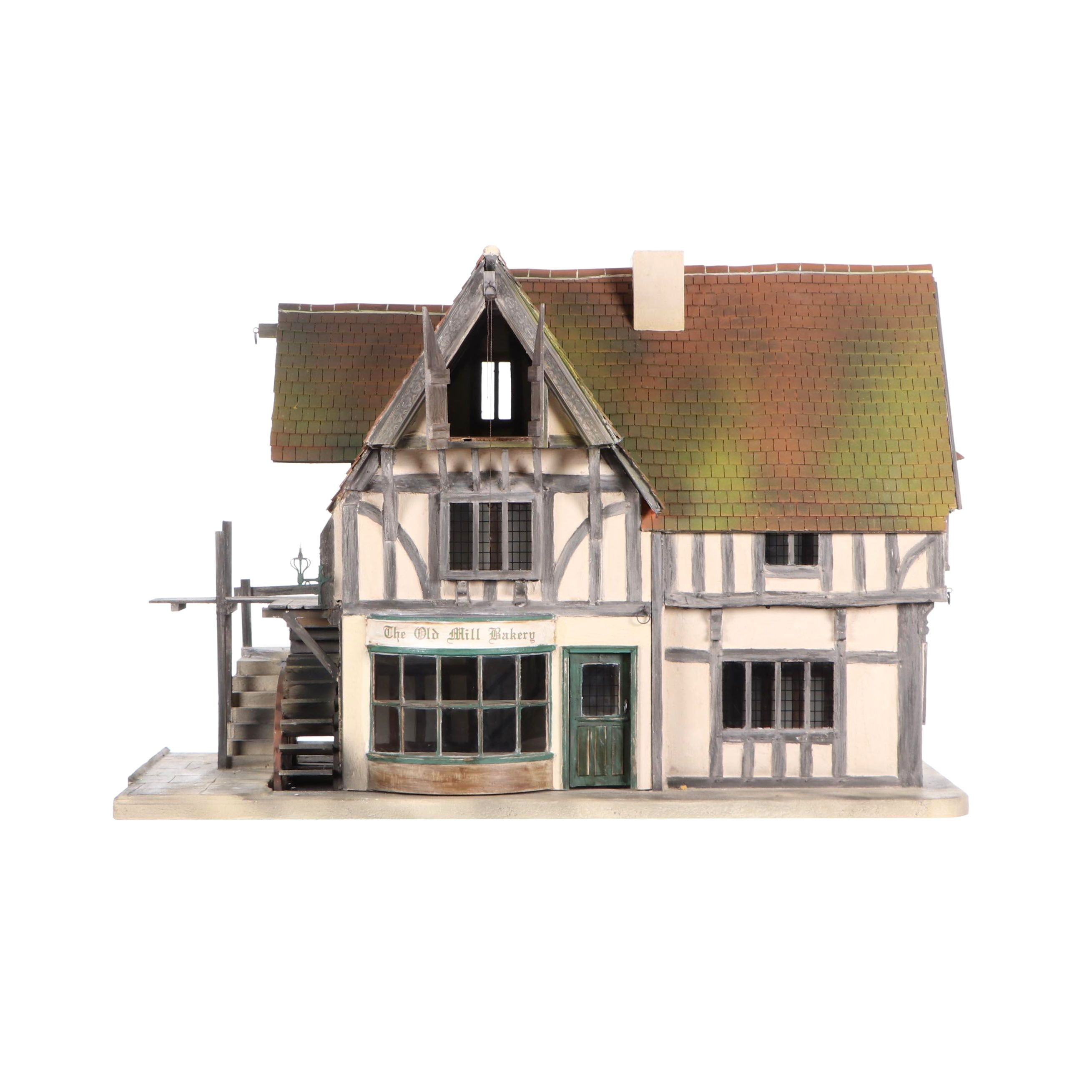 """Vic Newey English """"Old Water Mill and Bakery"""" Dollhouse"""
