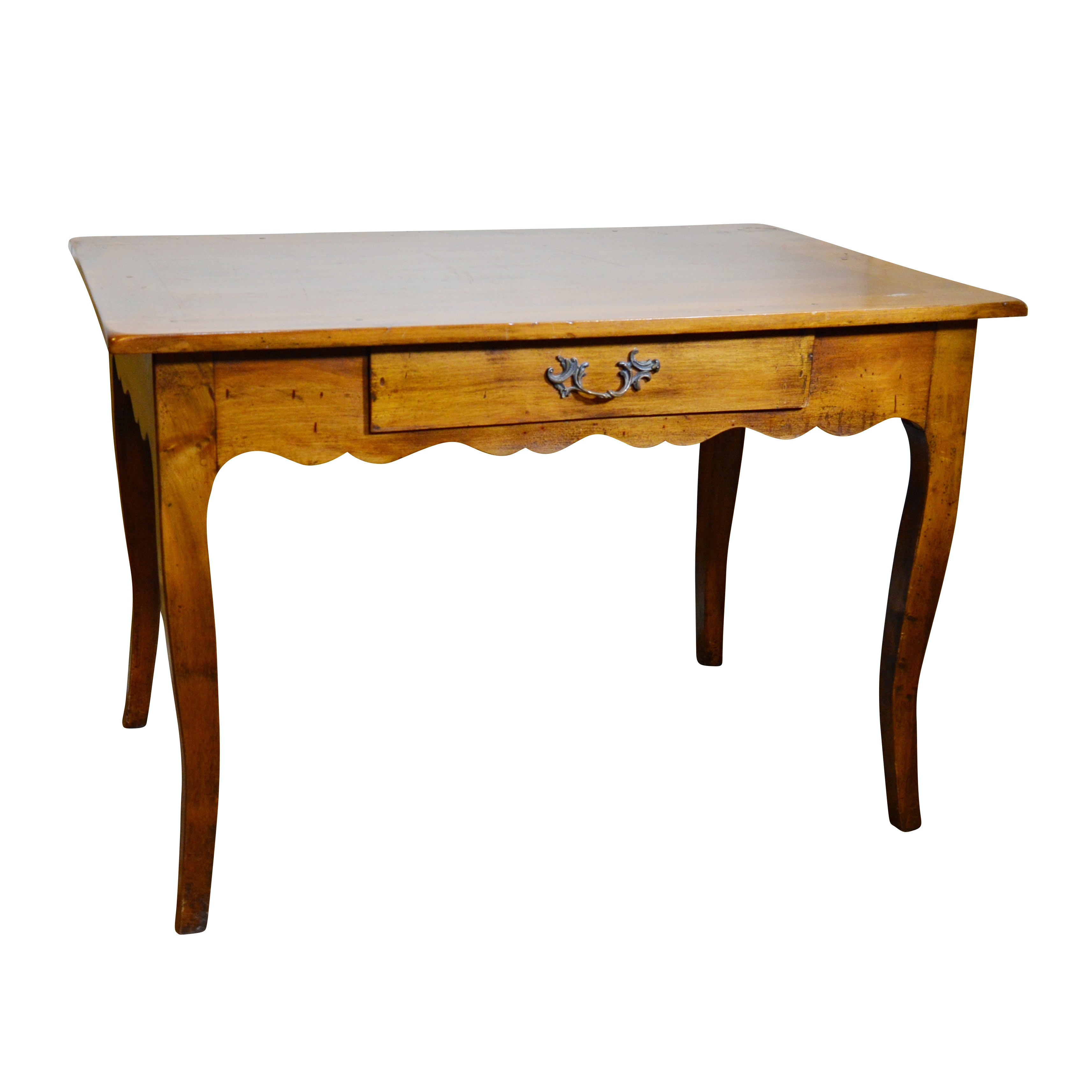Bloomingdale's French Provincial Style Walnut Writing Table, Contemporary