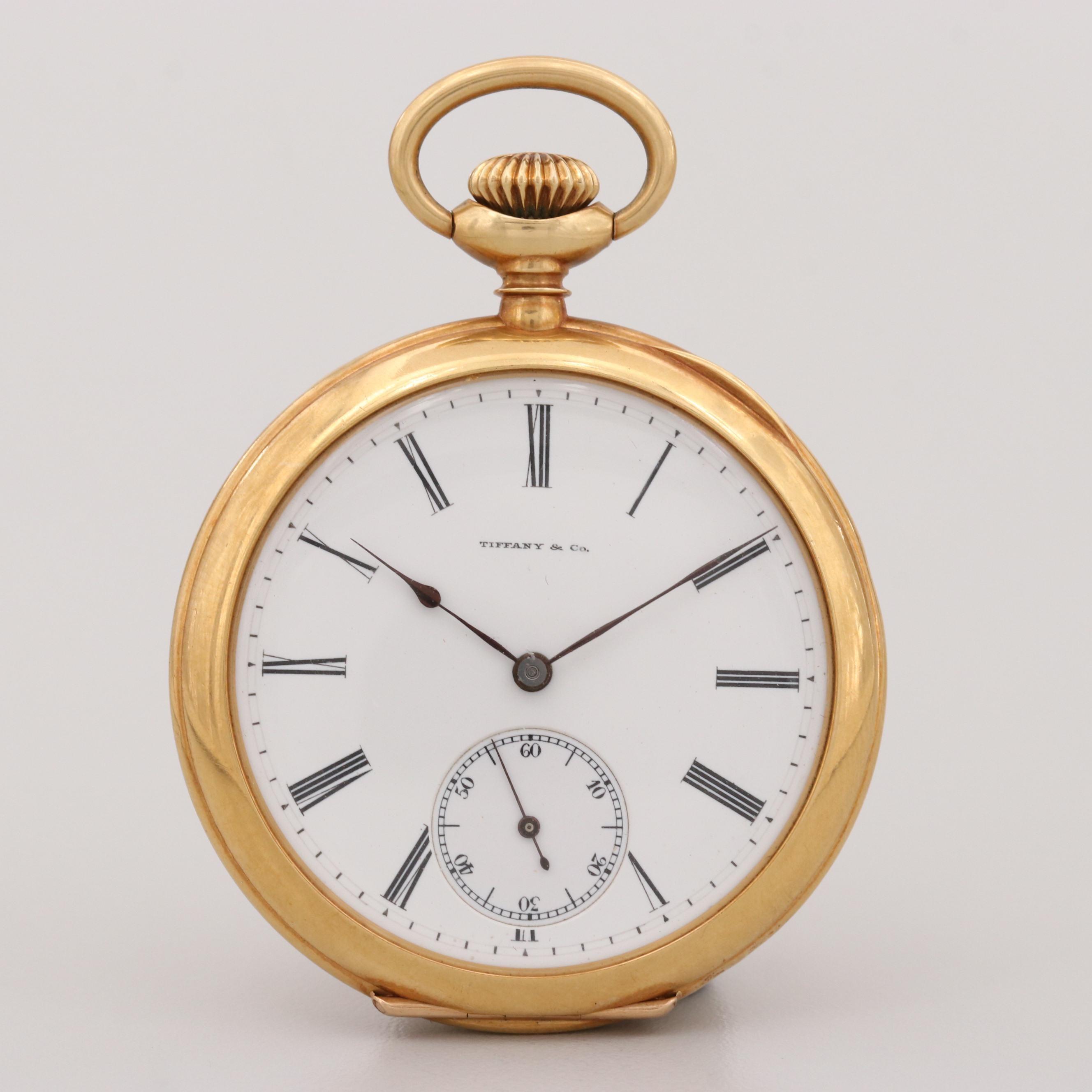 Tiffany & Co. 18K Yellow Gold Pocket Watch, 1910