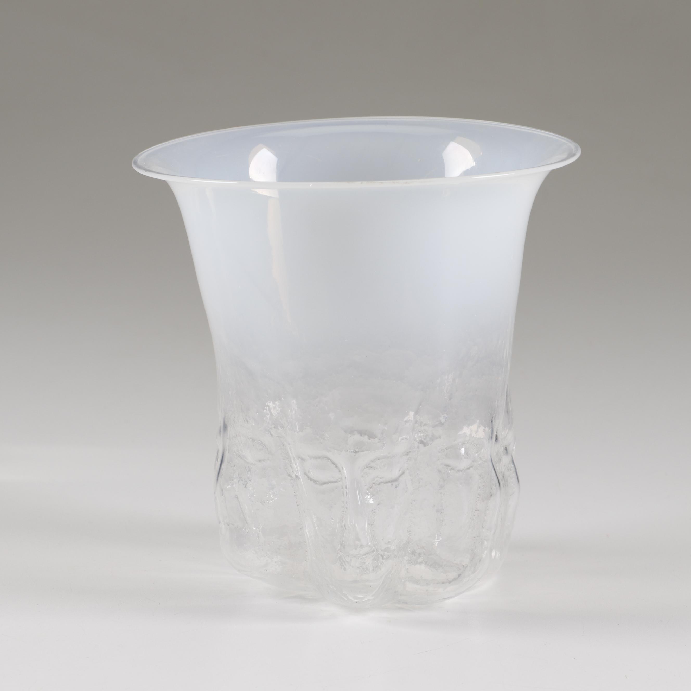 Lee Koveleski Hand Blown Figural Art Glass Vase