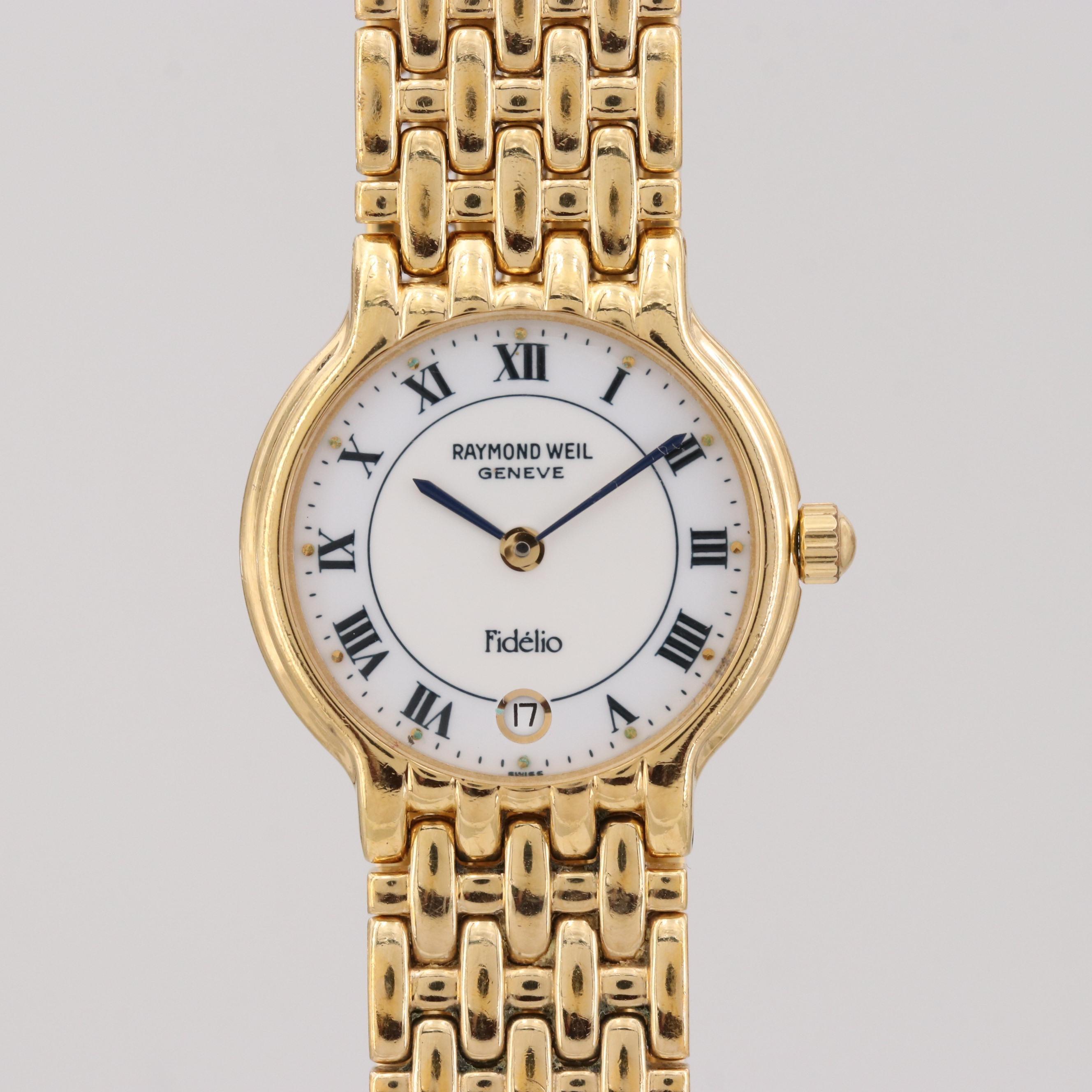 Raymond Weil Fidelio Gold Tone Quartz Wristwatch