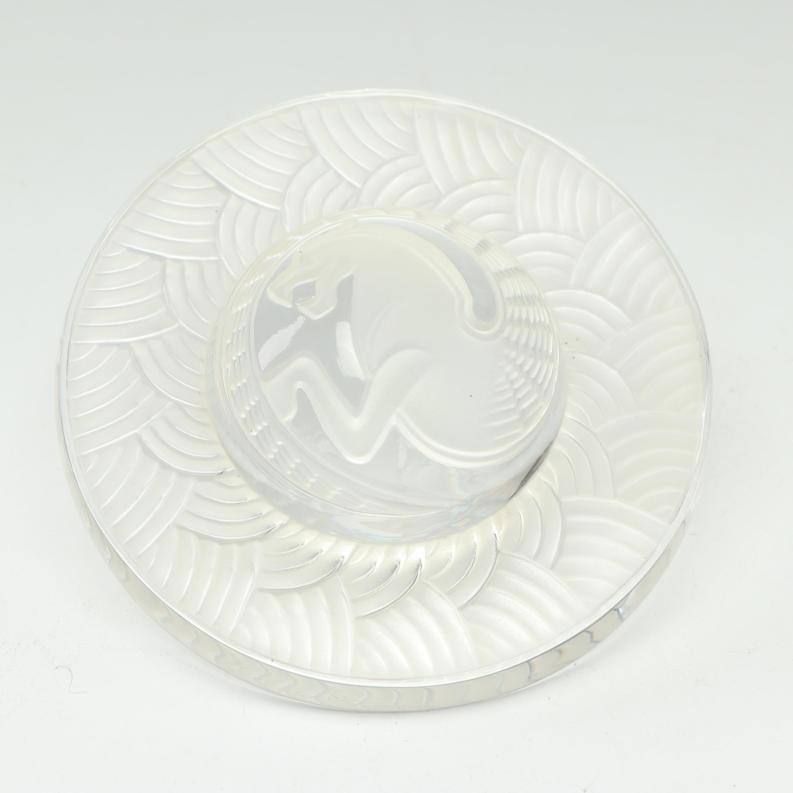 Lalique Zodiac Dragon Saturn Crystal Paperweight