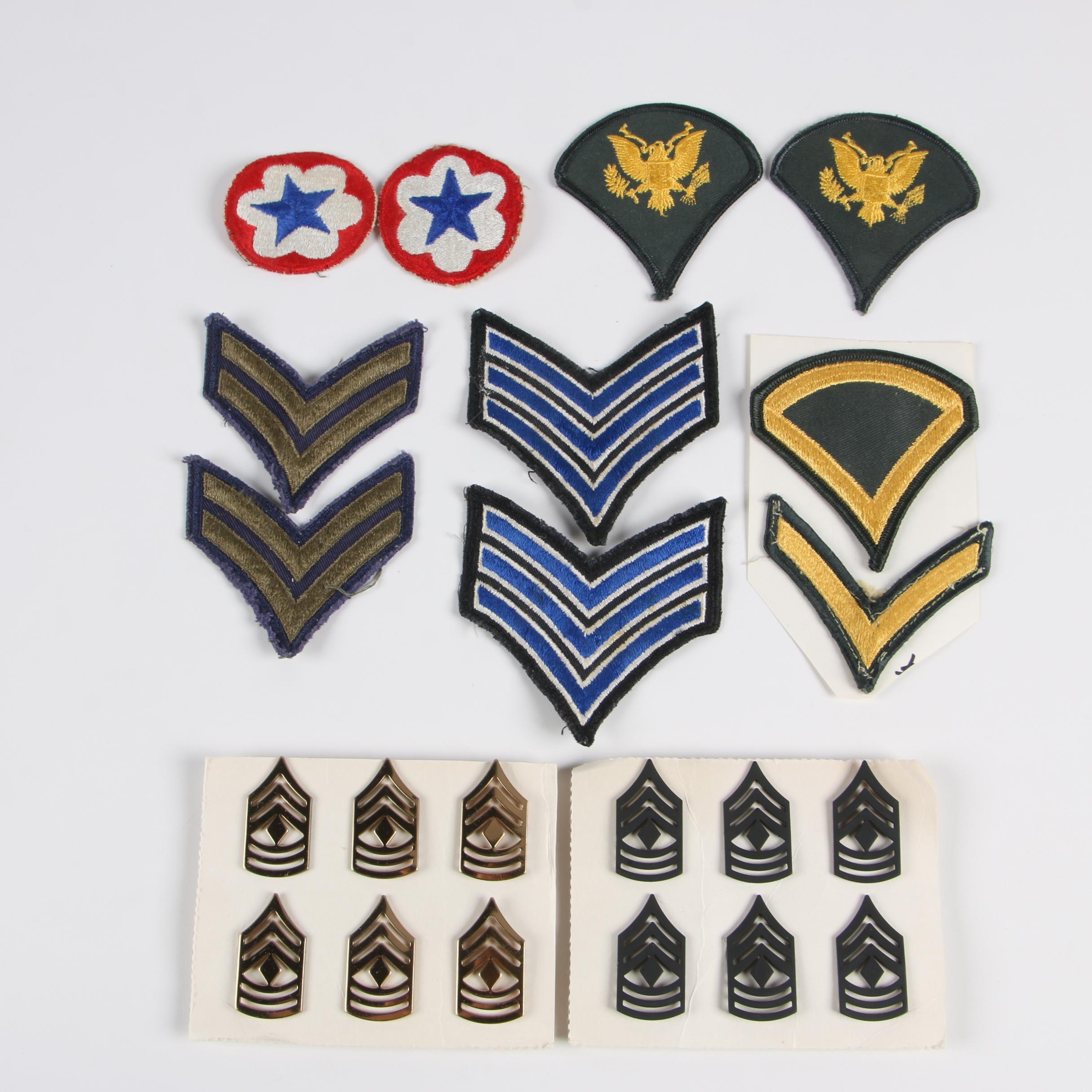 Military Patches Including Army Specialist and More
