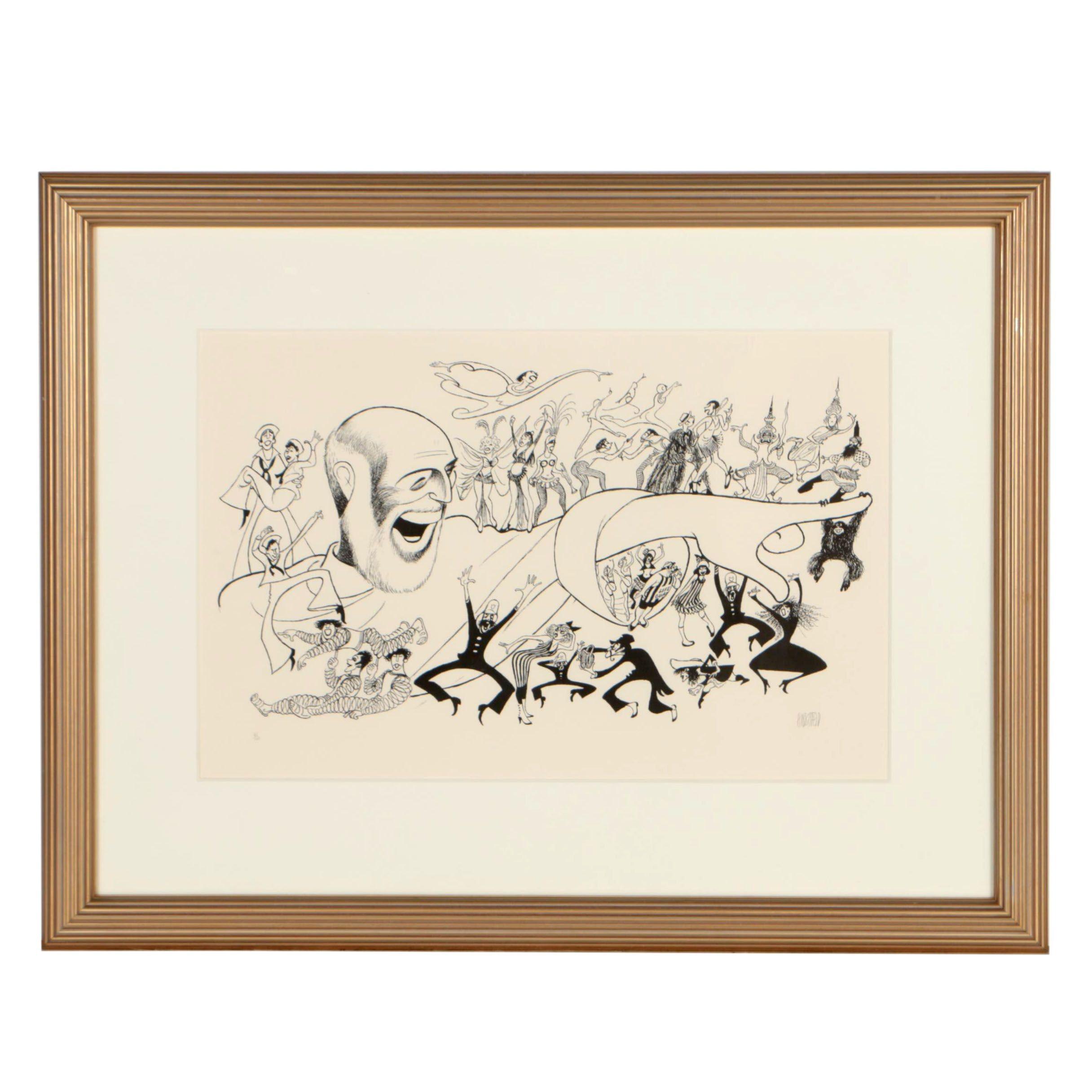 "Albert Hirschfeld Lithograph ""Jerome Robbins' Broadway"", 1989"