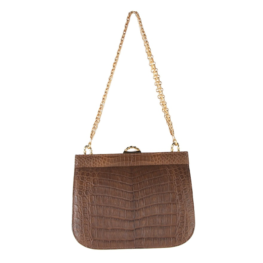 d77c9b6453a9 Sacha for Saks Fifth Avenue Crocodile Bag, Made in France, Late 1960's