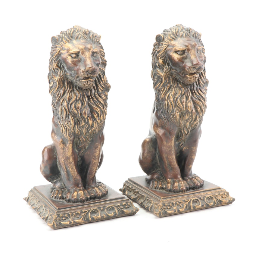 Murobello Resin Lion Bookends