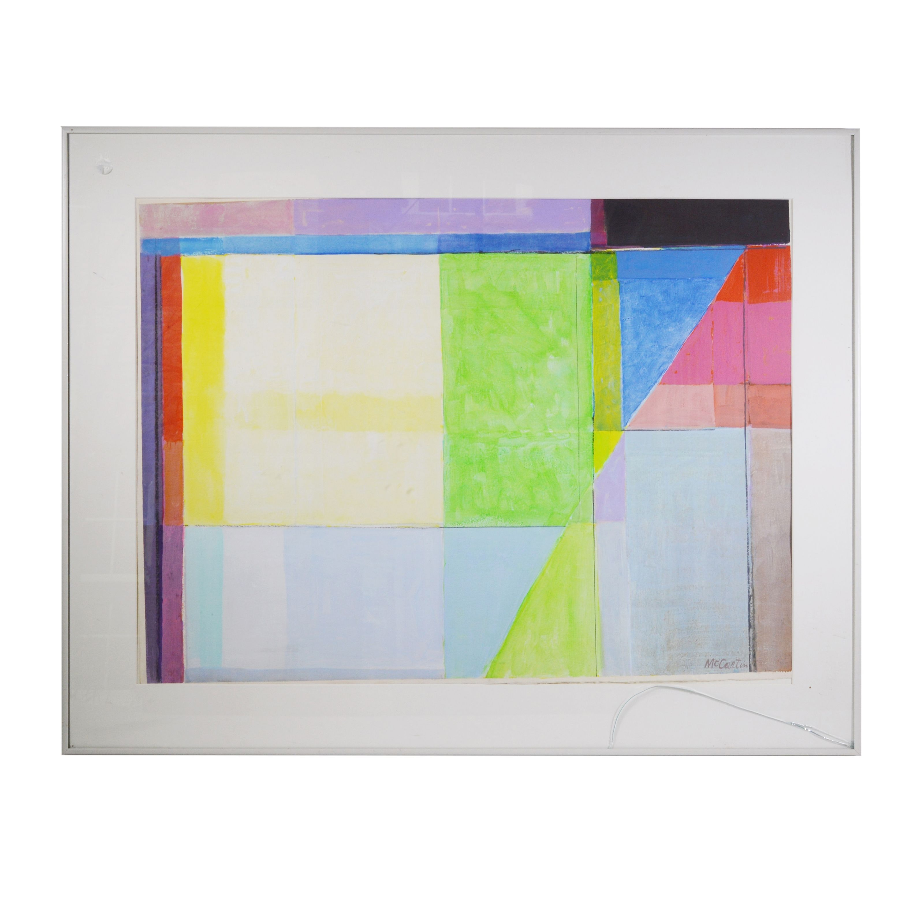 William F. McCartin Watercolor Painting of Abstract Composition