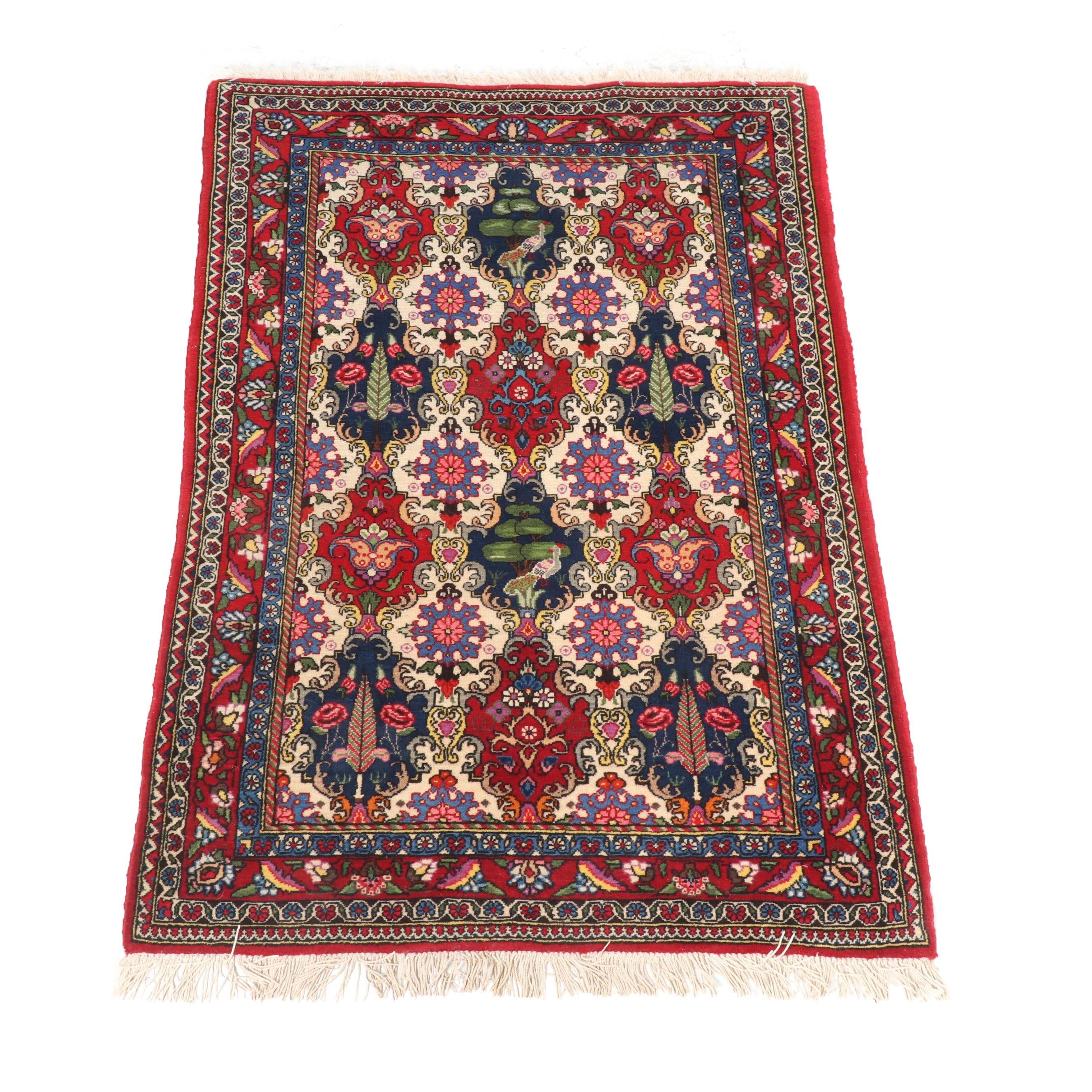 Hand-Knotted Persian Bakhtiari Wool Rug