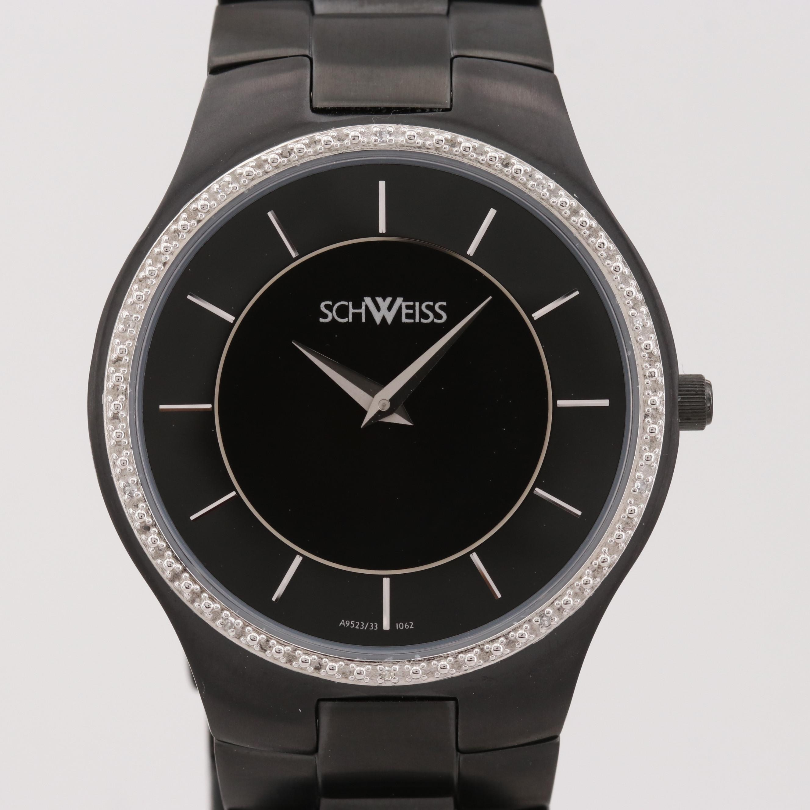 Schweiss Black Ion Plated Stainless Steel Quartz Wristwatch