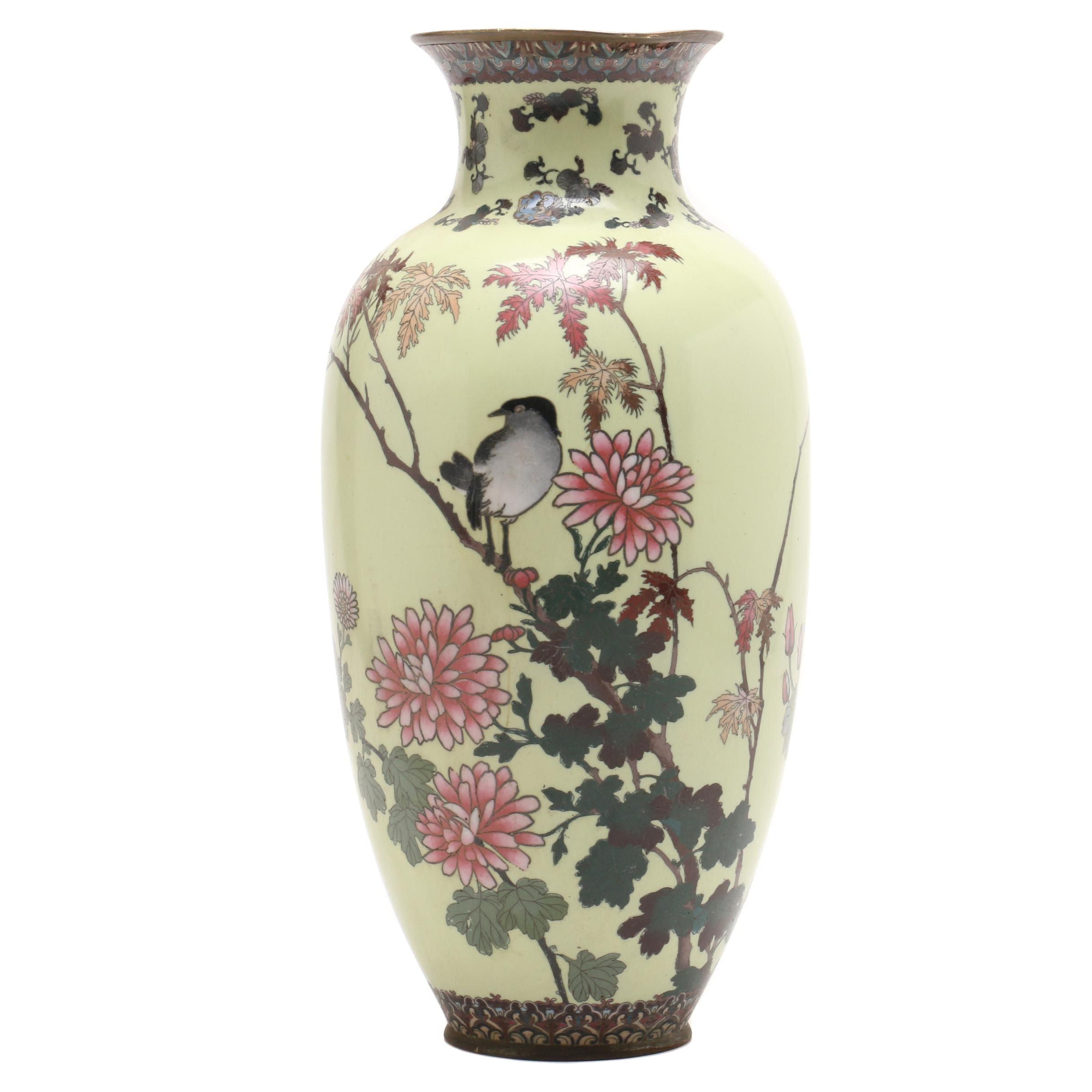Japanese Cloisonné Vase, Meiji Period