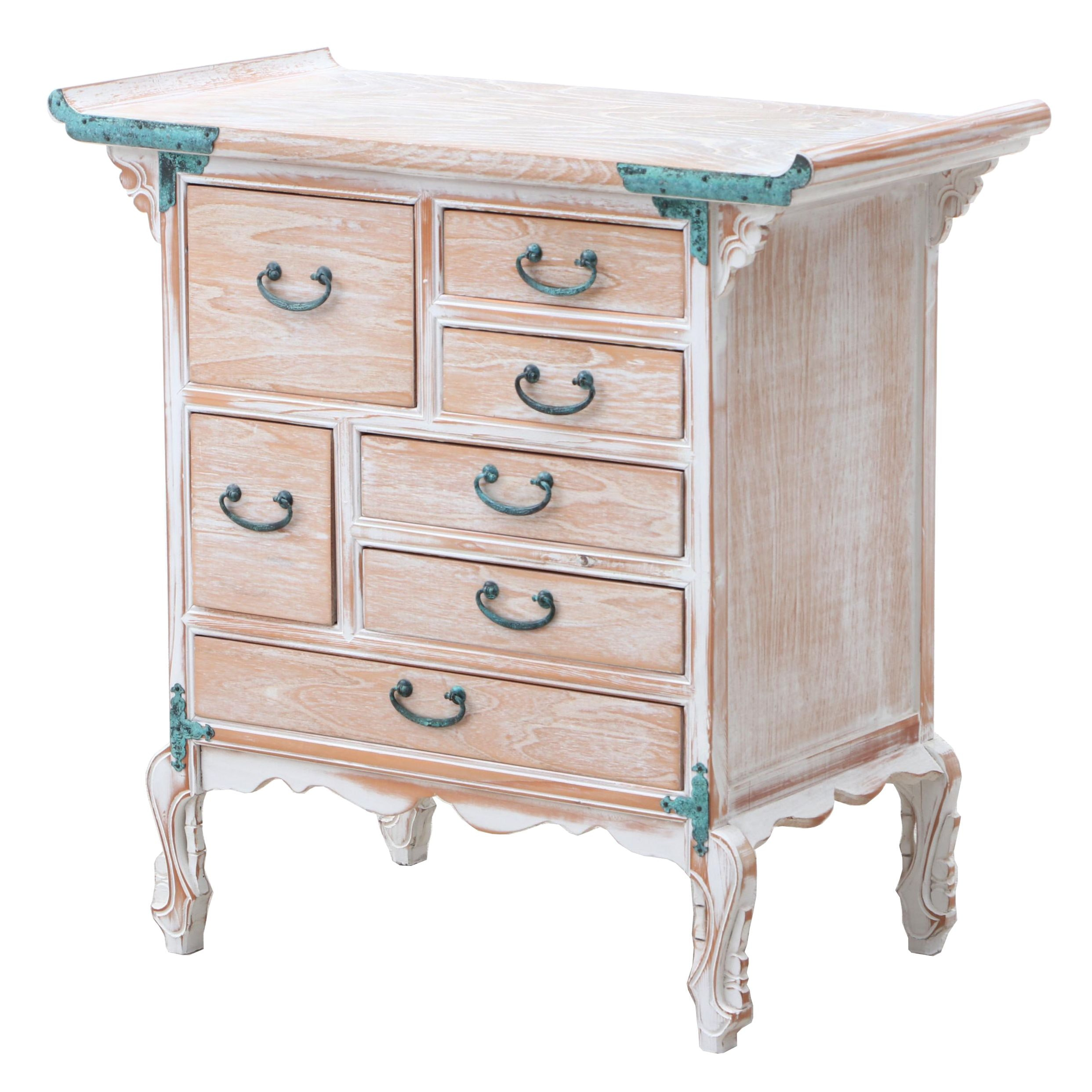 Chinese Inspired Chest of Drawers Accent Table