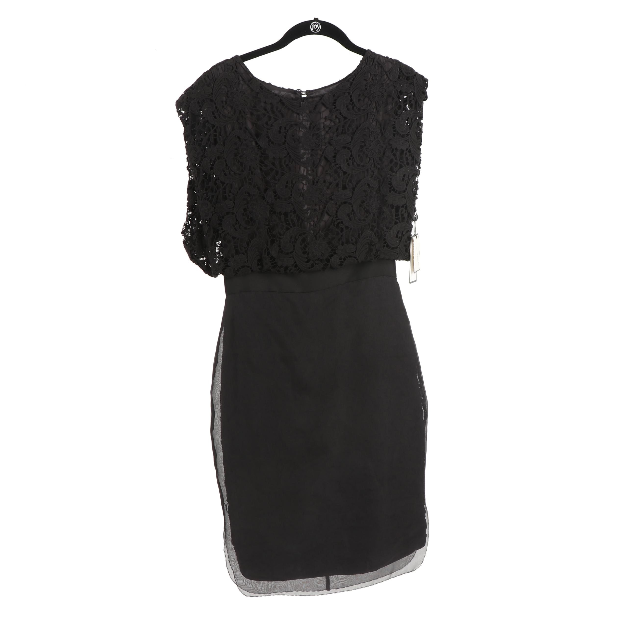 By Malene Birger Black Silk and Lace Cocktail Dress