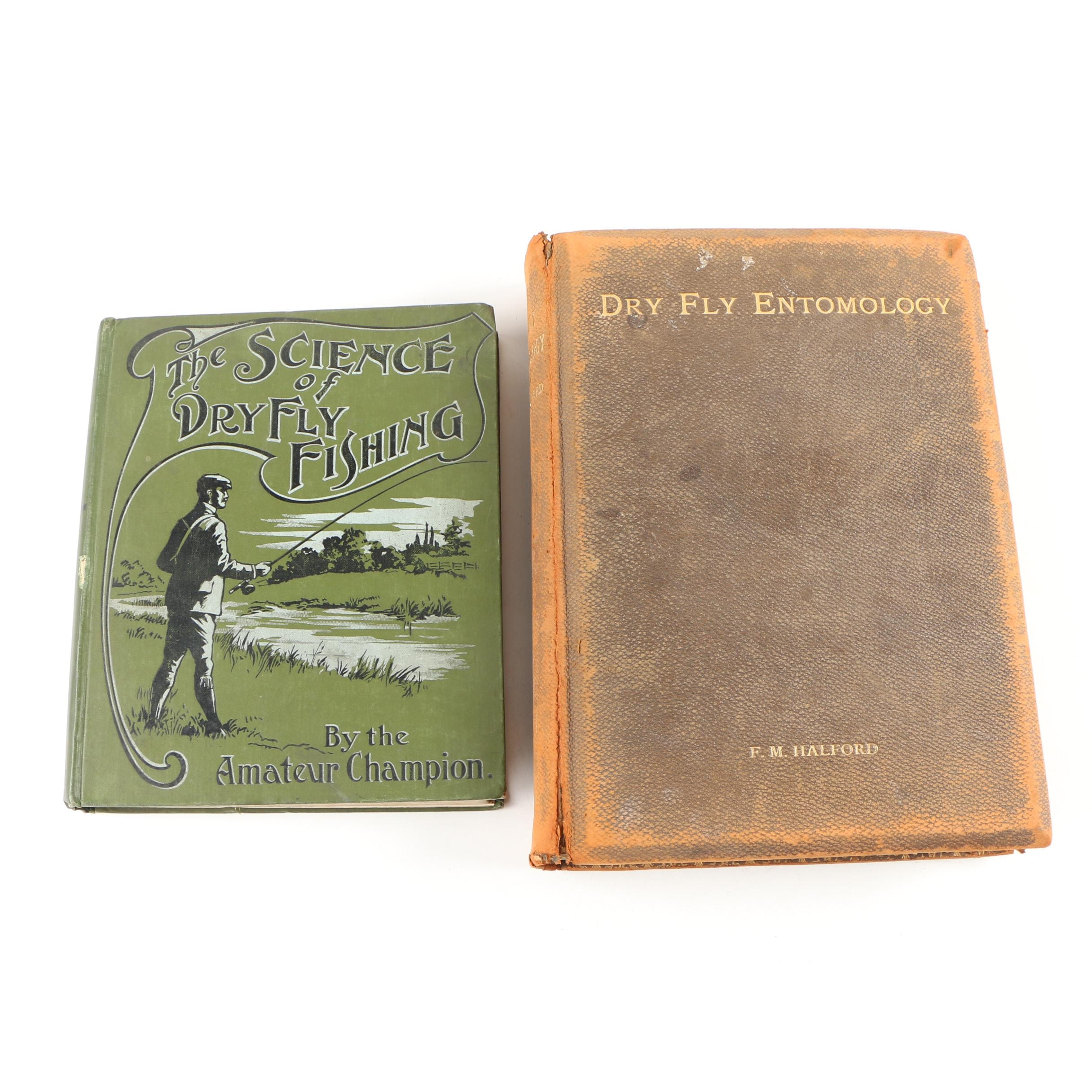 "Dry Fly Fishing Books featuring 1897 Signed ""Dry Fly Entomology"" by F. Halford"
