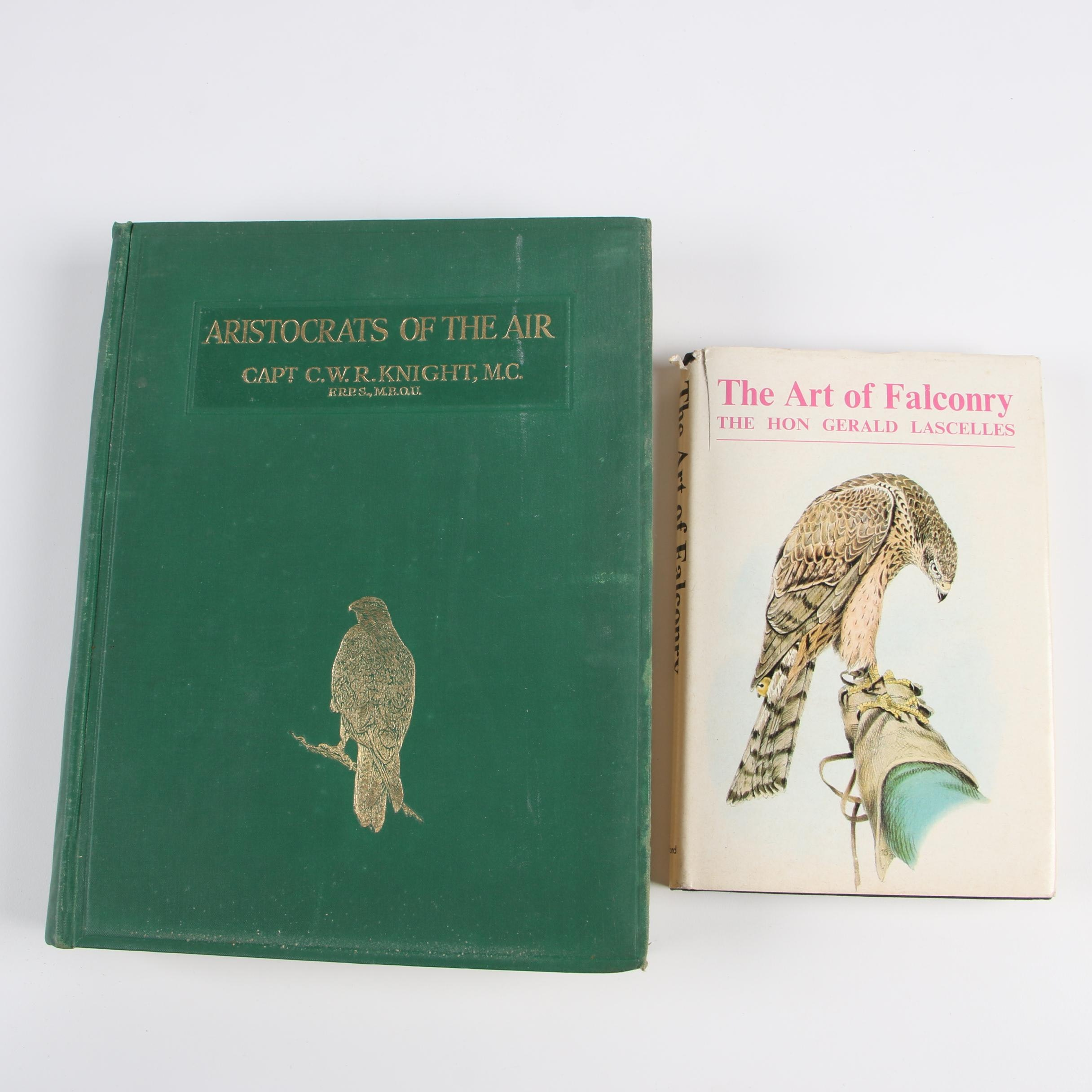 """Falconry Books featuring 1971 """"The Art of Falconry"""" by Gerald Lascelles"""