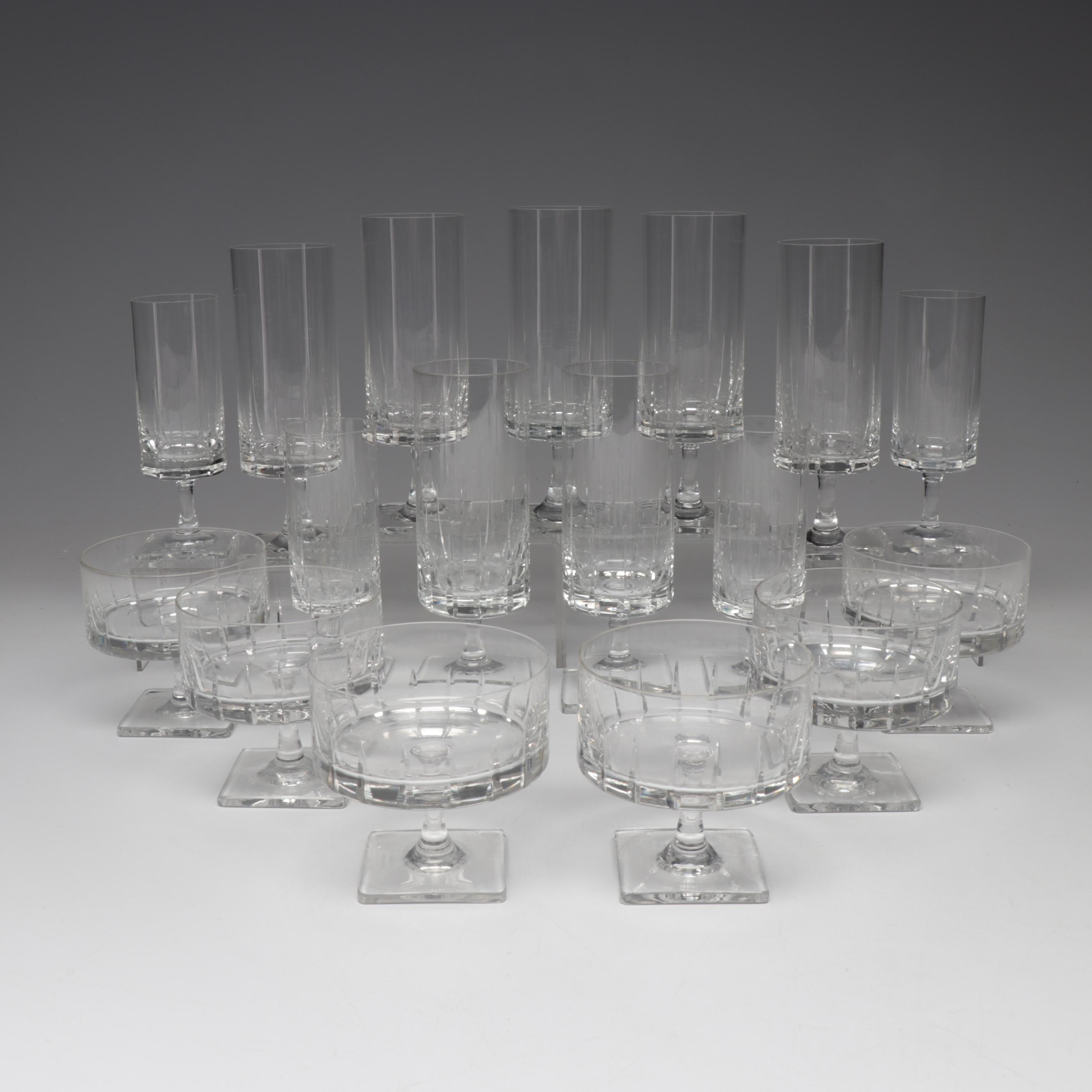 "Rosenthal ""Wedge Cut"" Crystal Stemware, Mid to Late 20th Century"
