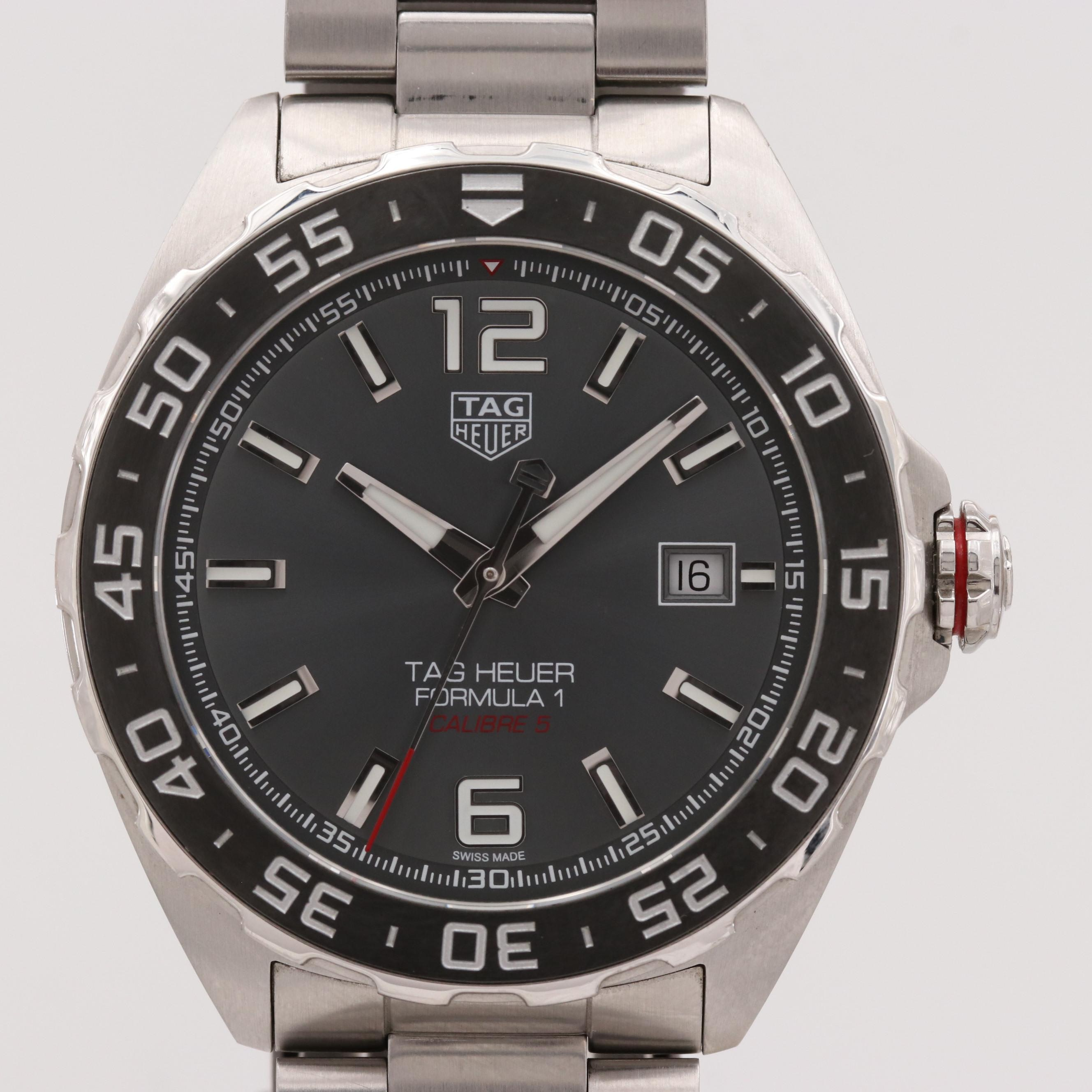 TAG Heuer Formula 1 Calibre 5 Stainless Steel Automatic Wristwatch