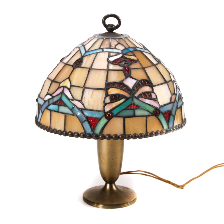 Pairpoint Desk Lamp with Dale Tiffany Shade