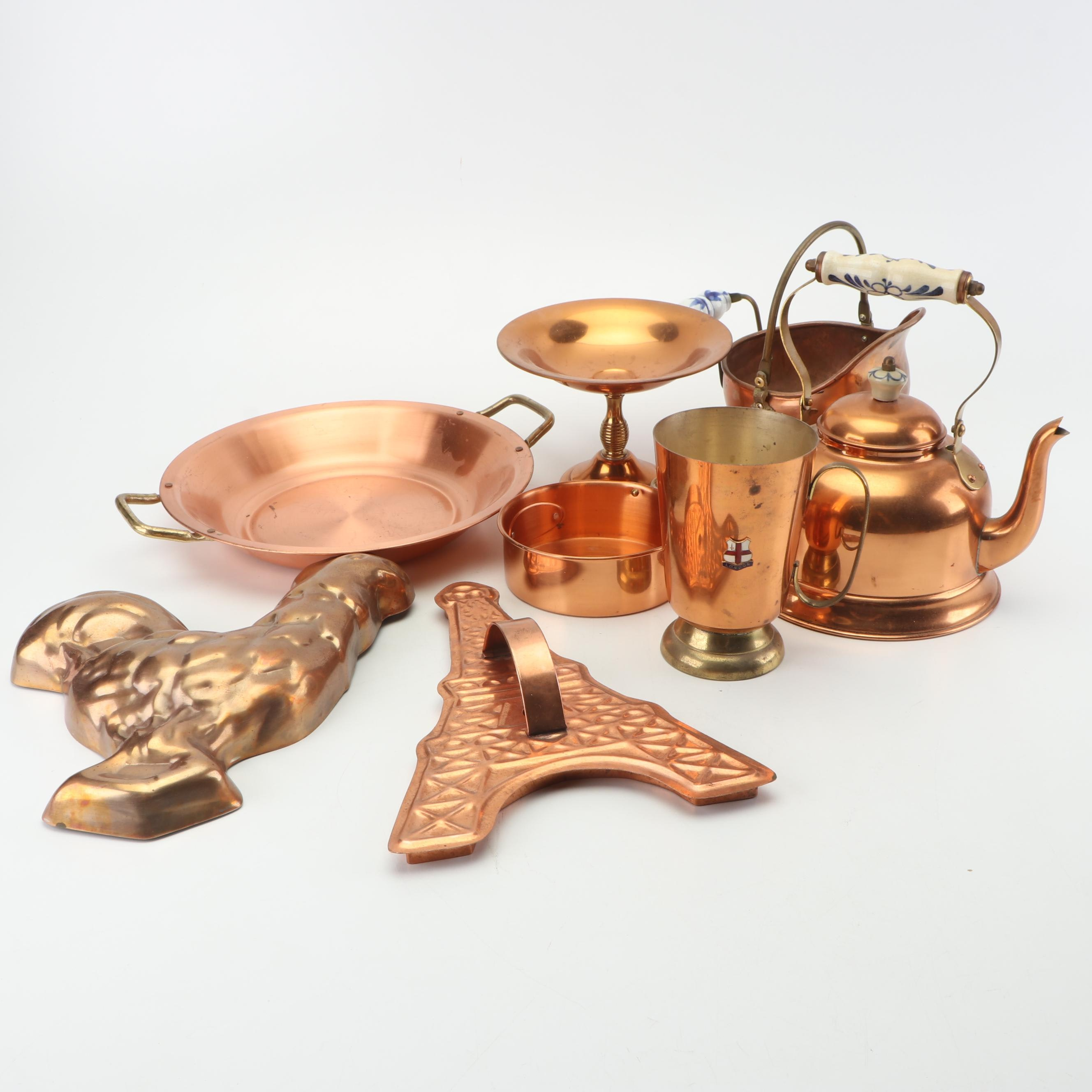 Copper Teakettle and Other Kitchenware