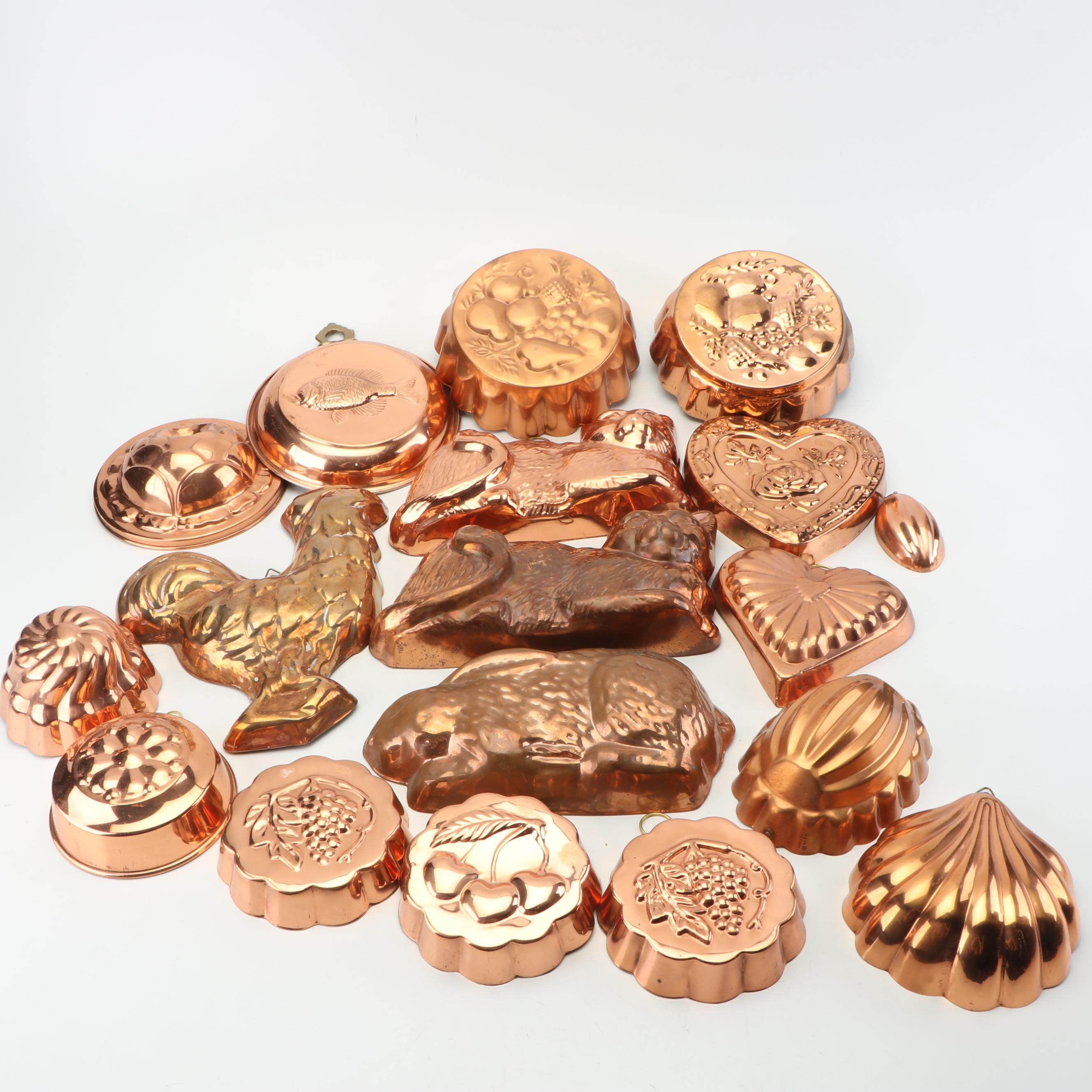 Copper Molds and Pans