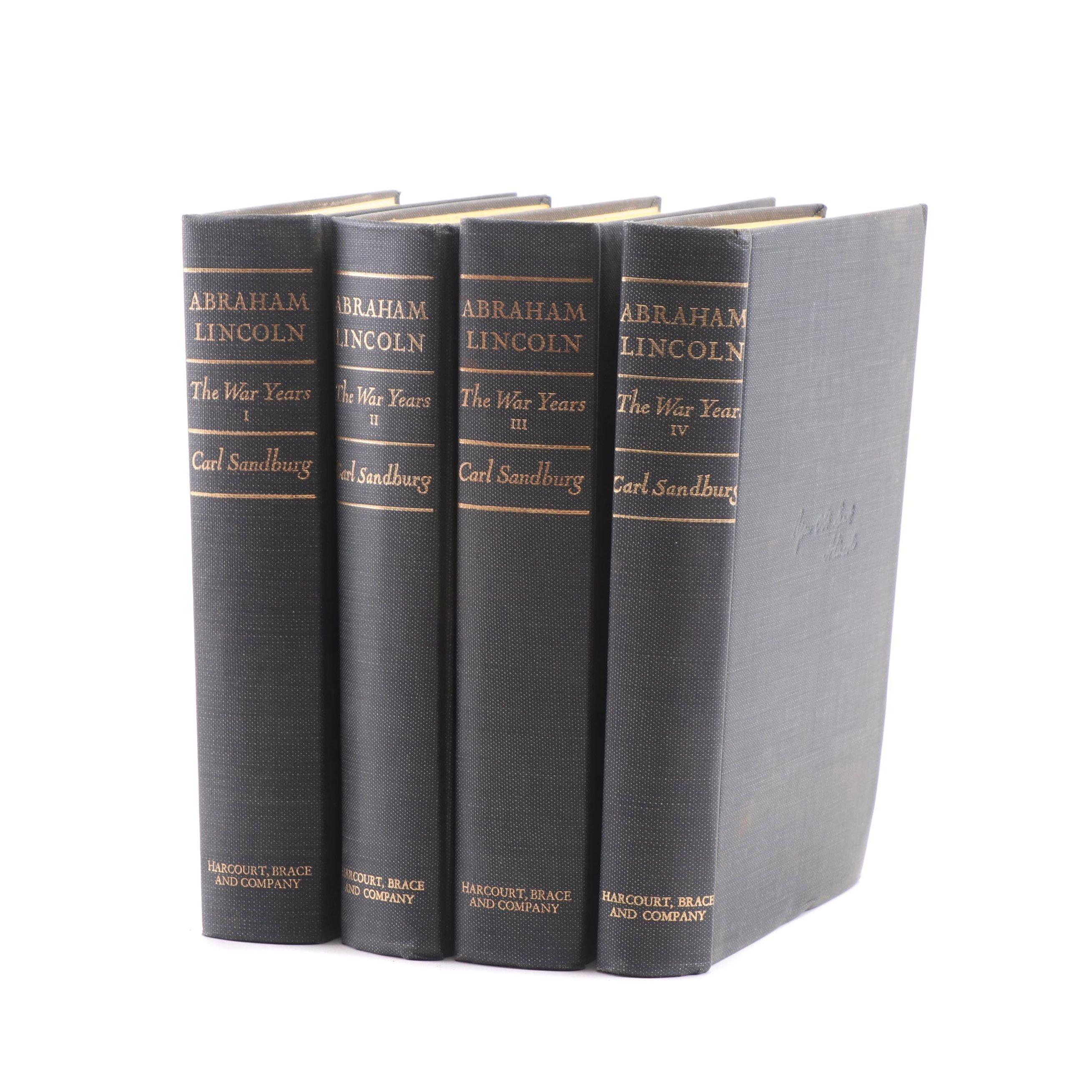 "1939 ""Abraham Lincoln: The War Years"" by Carl Sandburg"