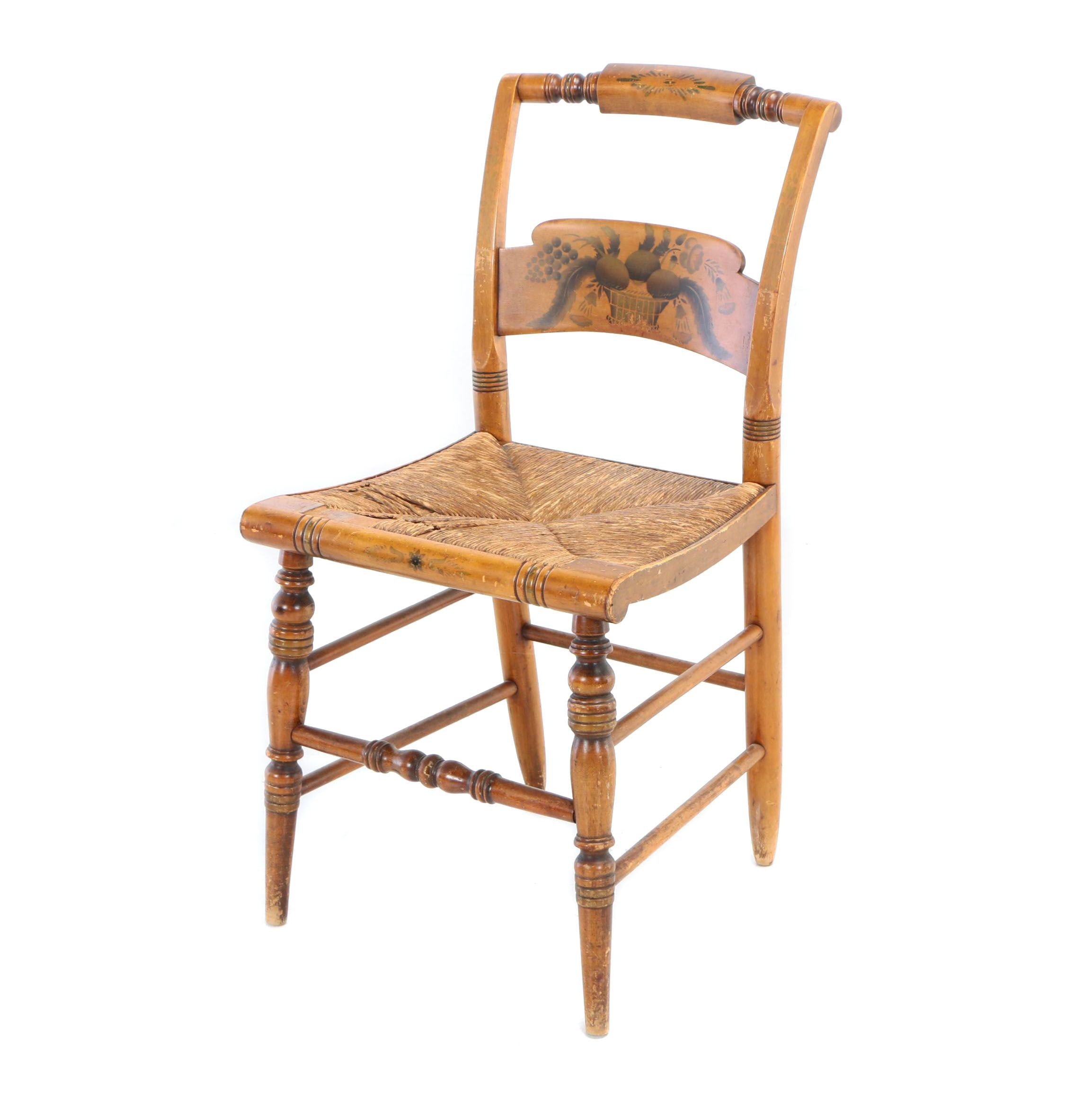 L. Hitchcock Gilt-Stenciled Fancy Side Chair, 20th Century