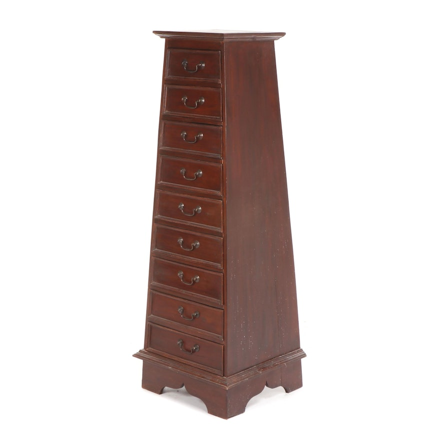 Tapered Mahogany Finished Chest of Drawers